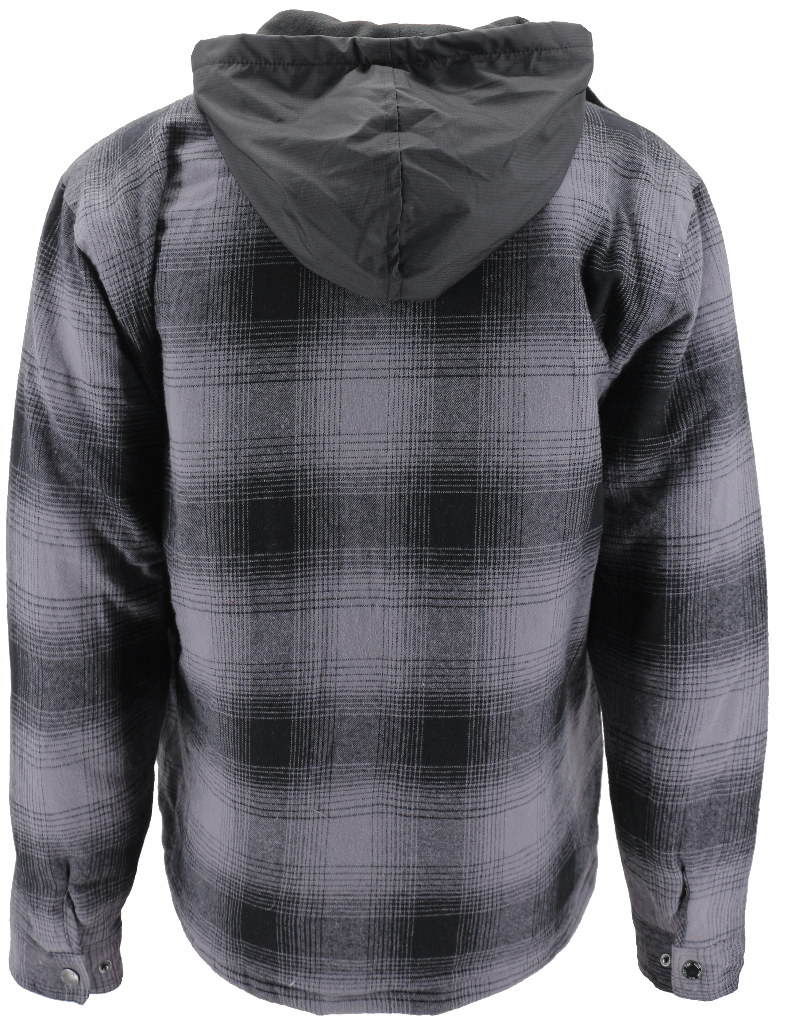 vkwear-Men-039-s-Quilted-Lined-Cotton-Plaid-Flannel-Layered-Zip-Up-Hoodie-Jacket thumbnail 10