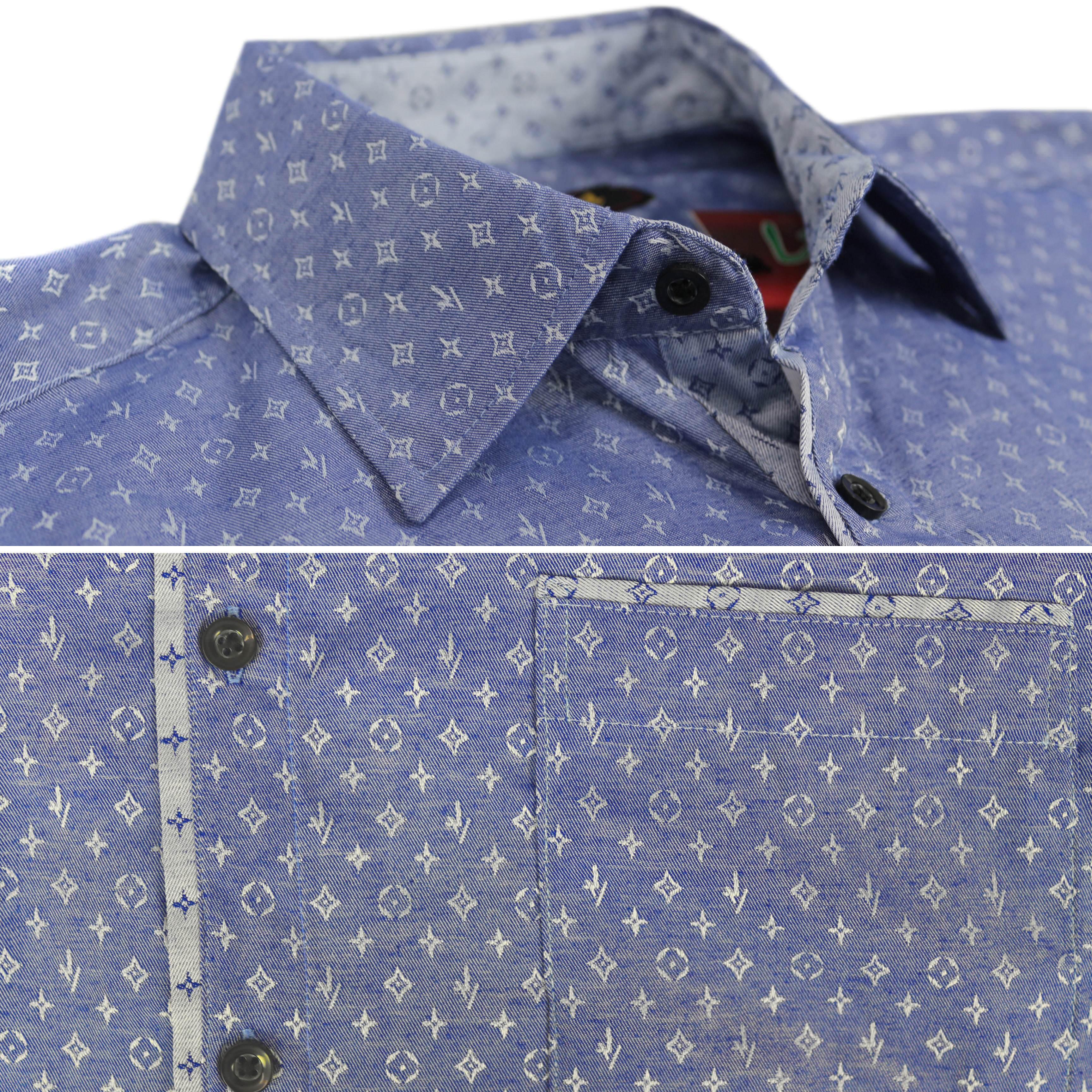 thumbnail 4 - LW-Men-039-s-Western-Button-Up-Long-Sleeve-Designer-Dress-Shirt