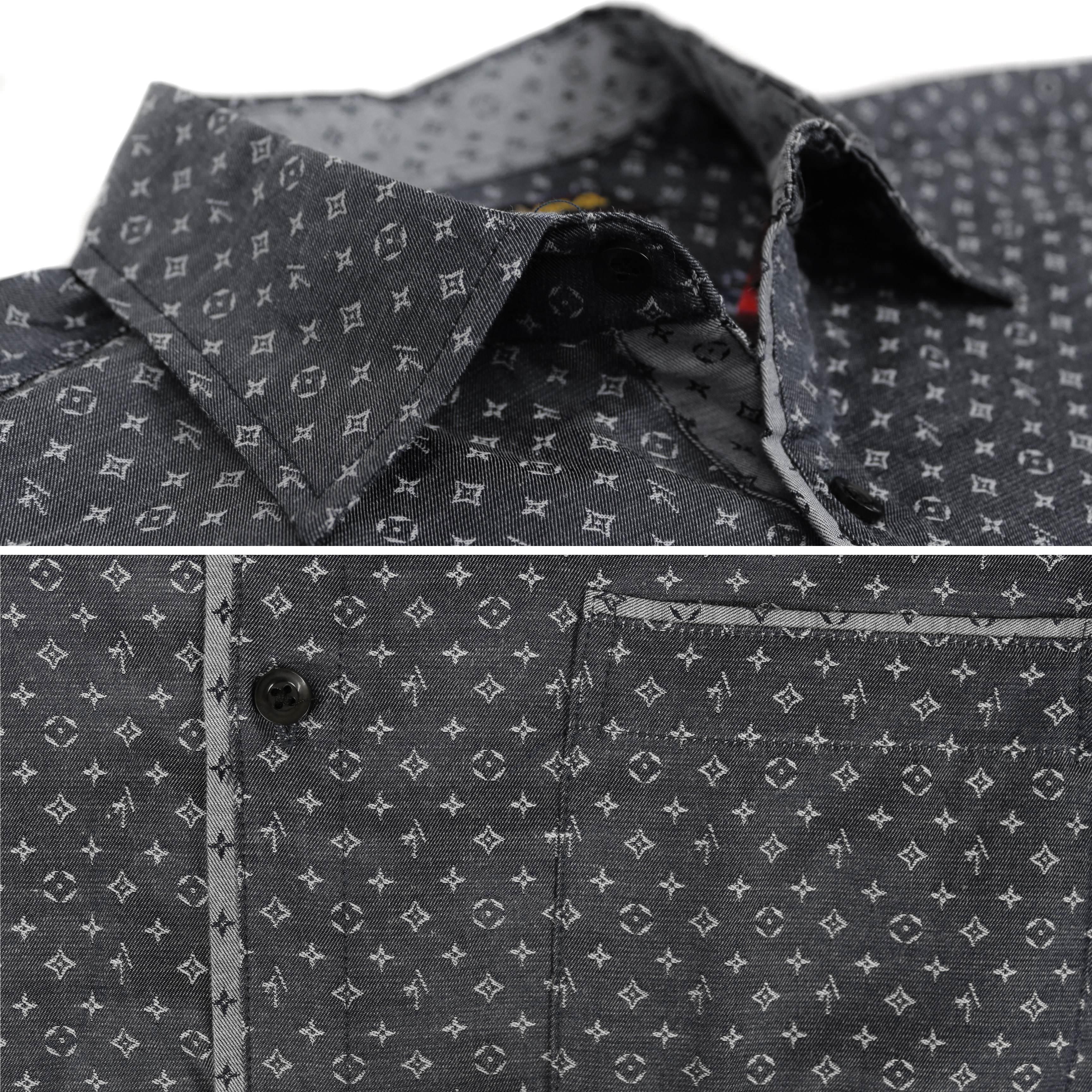 thumbnail 6 - LW-Men-039-s-Western-Button-Up-Long-Sleeve-Designer-Dress-Shirt