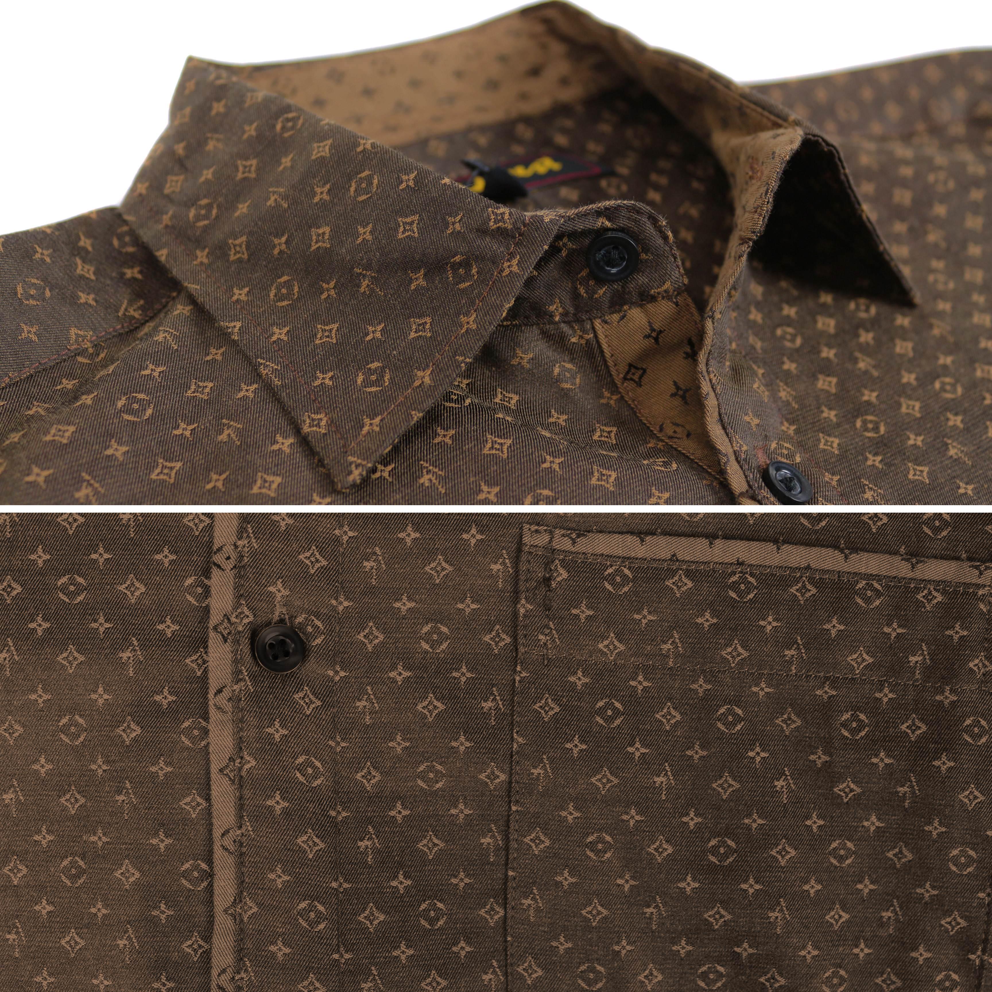 thumbnail 8 - LW-Men-039-s-Western-Button-Up-Long-Sleeve-Designer-Dress-Shirt