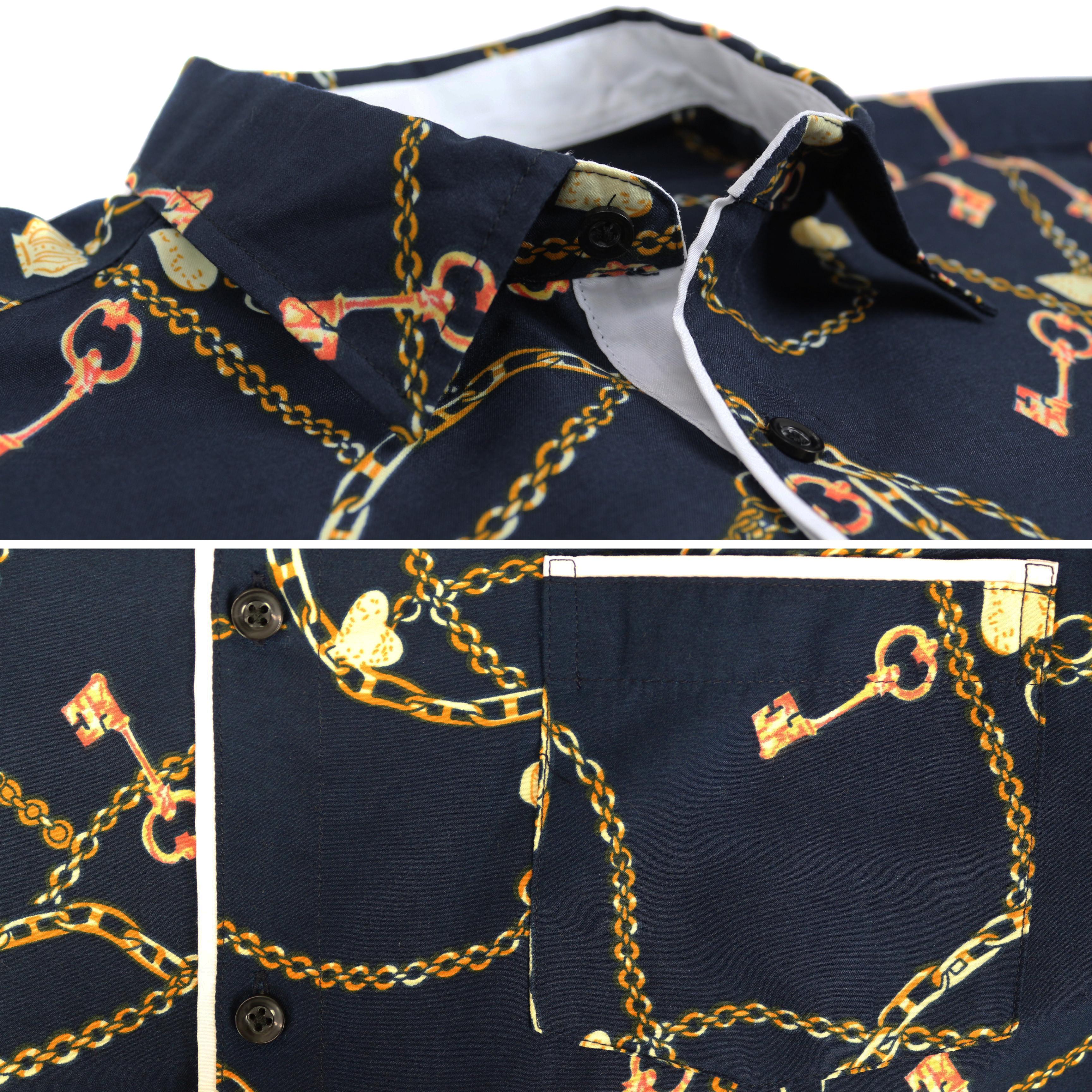 thumbnail 14 - LW-Men-039-s-Western-Button-Up-Long-Sleeve-Designer-Dress-Shirt