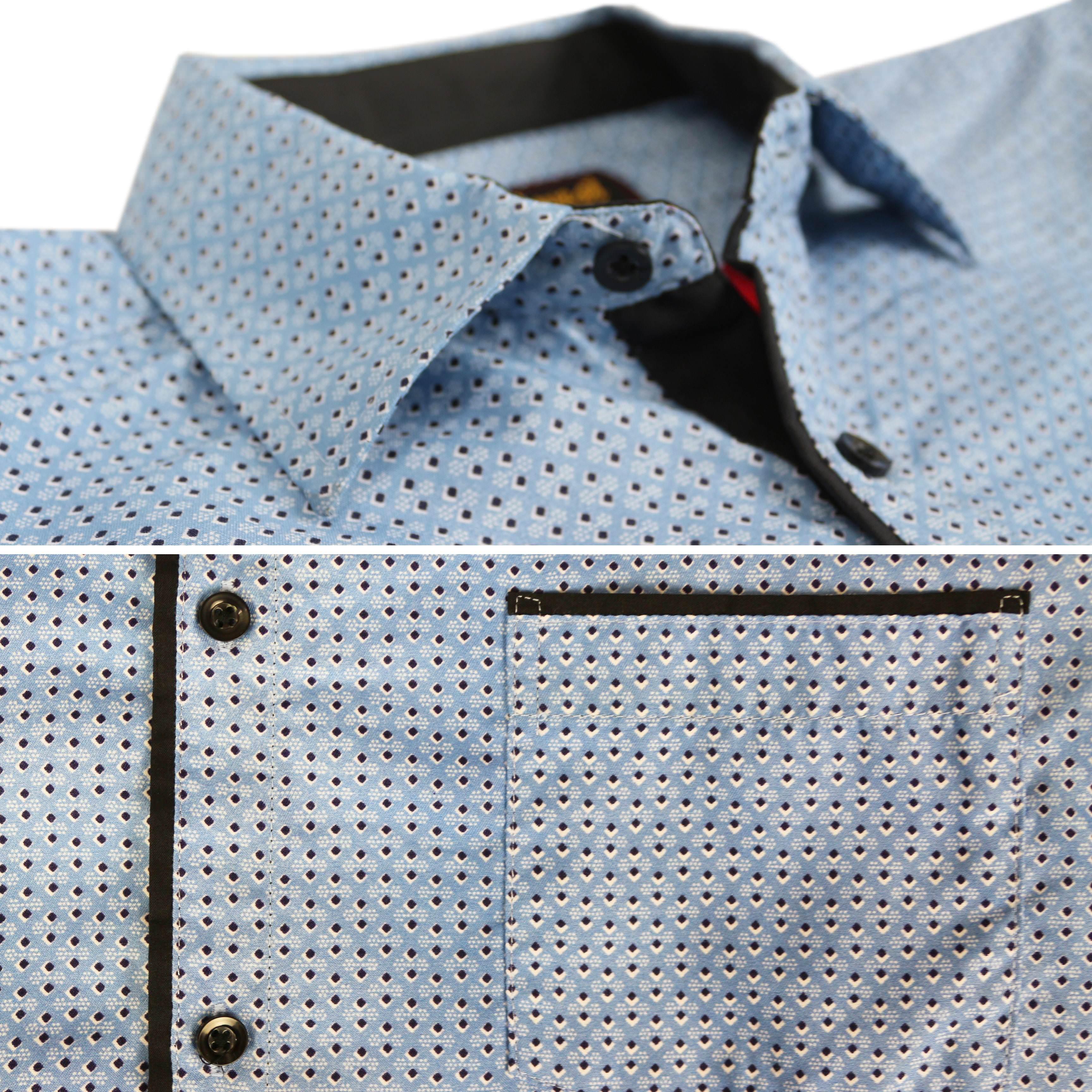 thumbnail 18 - LW-Men-039-s-Western-Button-Up-Long-Sleeve-Designer-Dress-Shirt