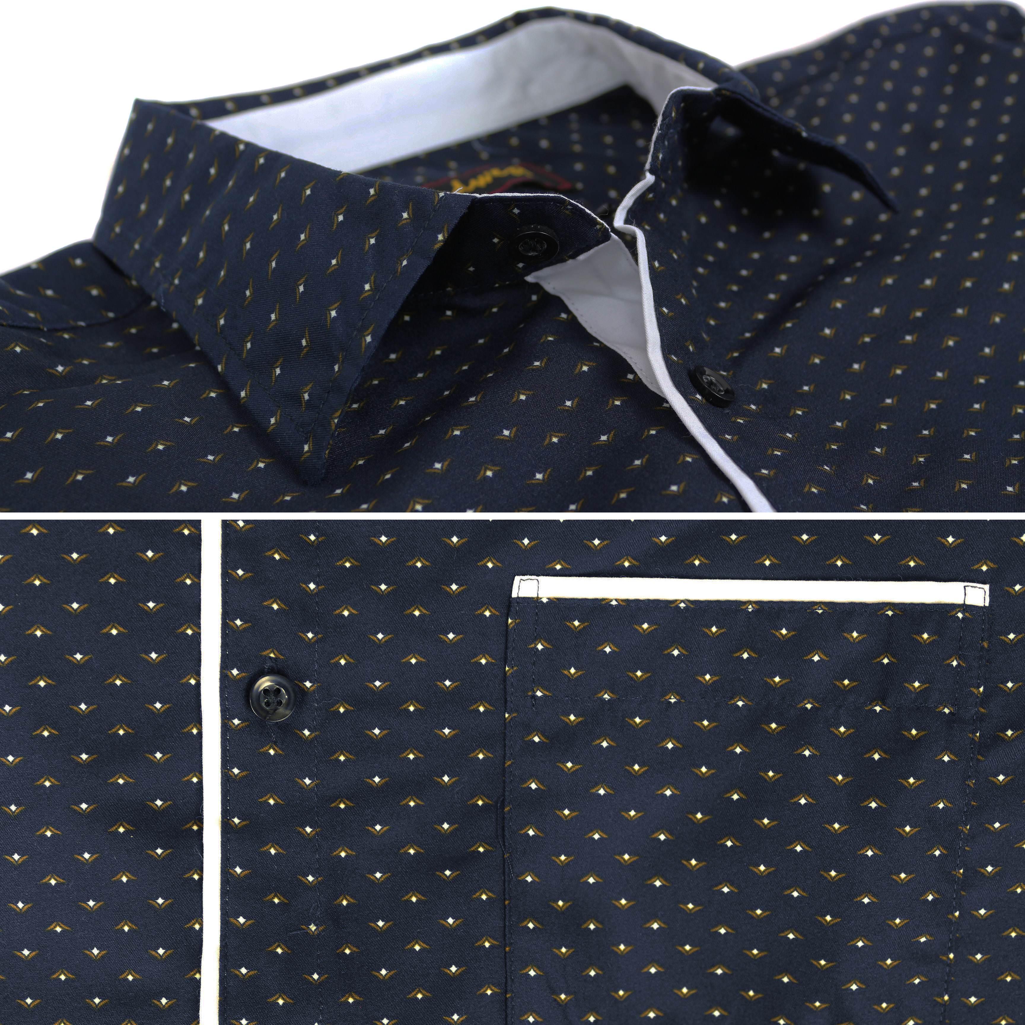 thumbnail 20 - LW-Men-039-s-Western-Button-Up-Long-Sleeve-Designer-Dress-Shirt