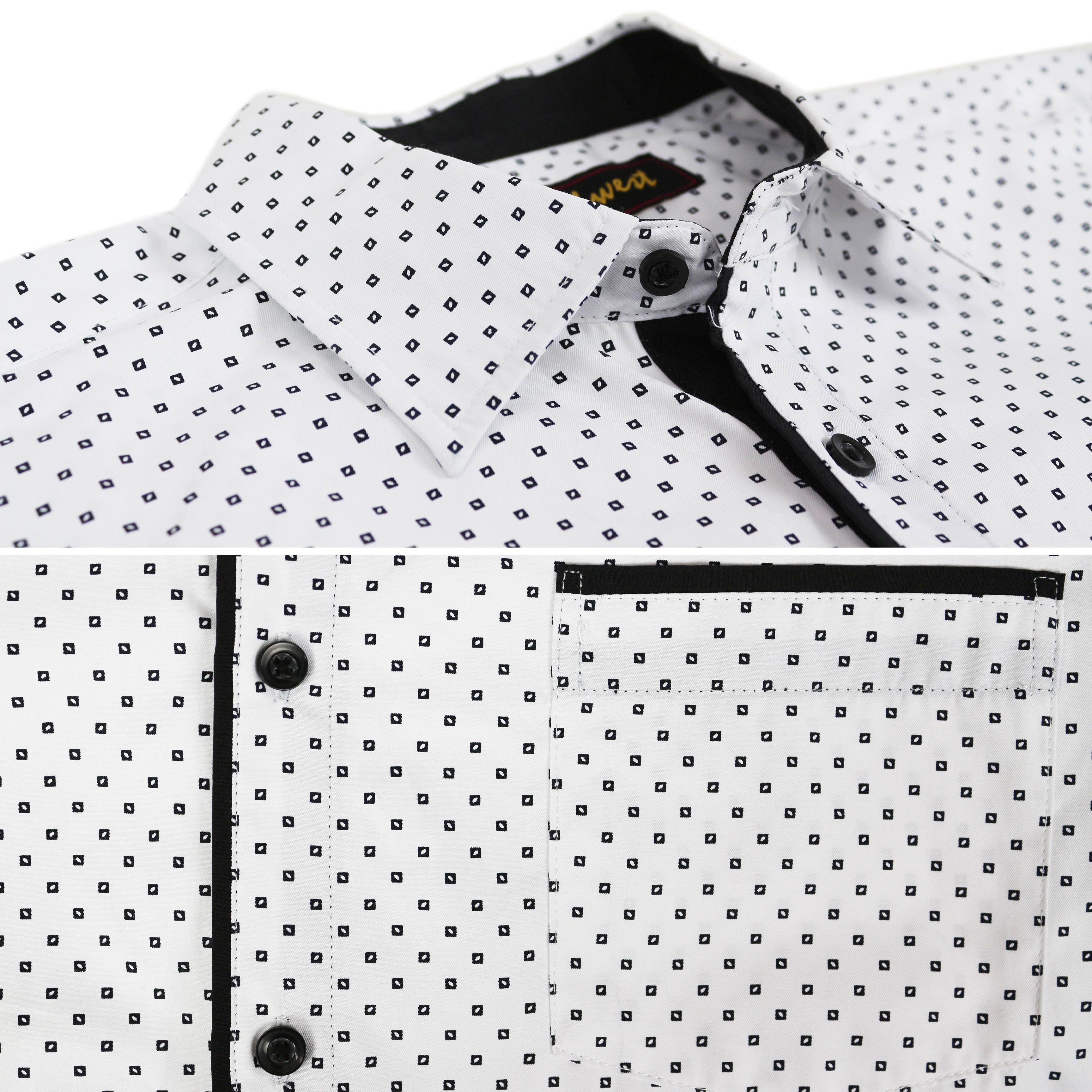 thumbnail 22 - LW-Men-039-s-Western-Button-Up-Long-Sleeve-Designer-Dress-Shirt