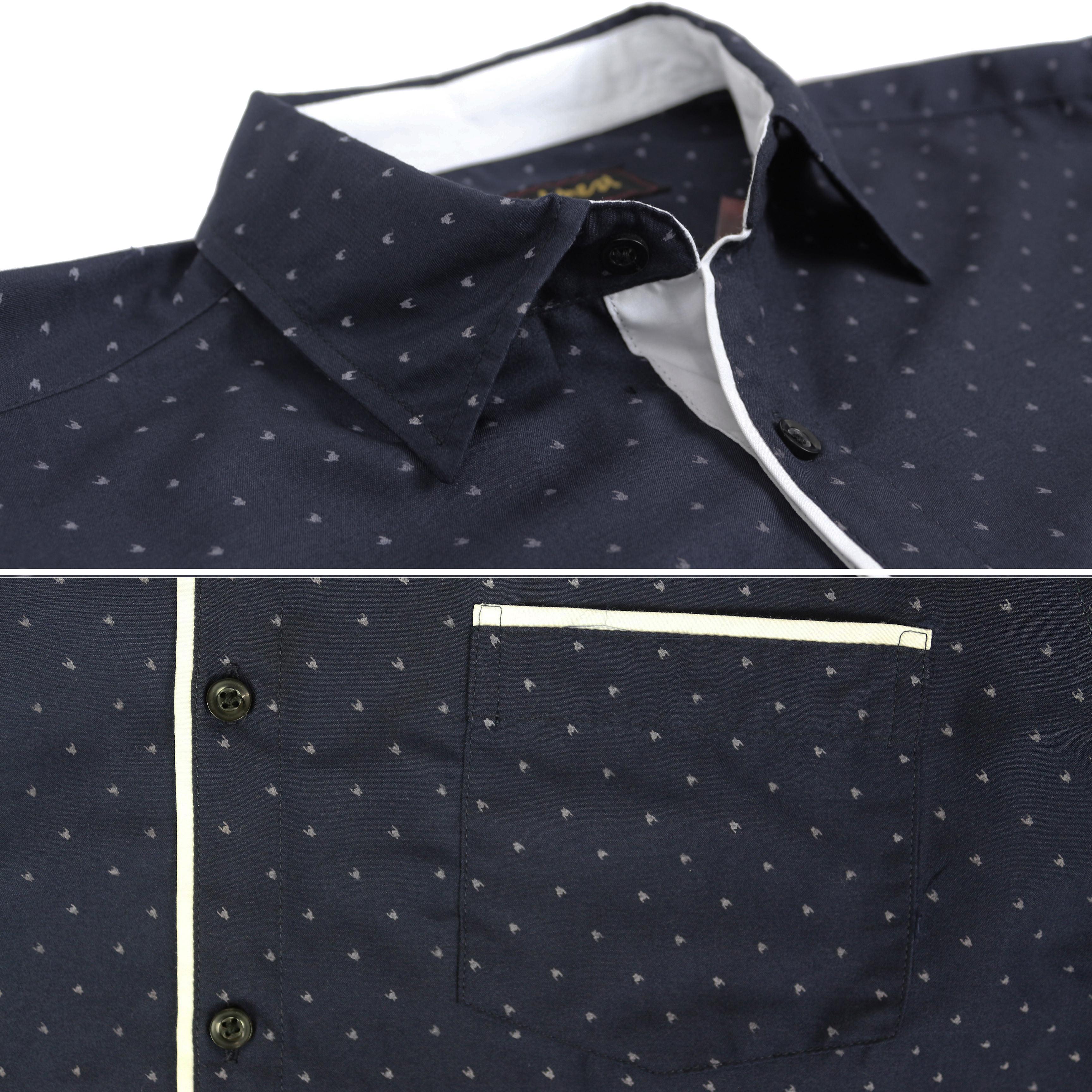 thumbnail 26 - LW-Men-039-s-Western-Button-Up-Long-Sleeve-Designer-Dress-Shirt