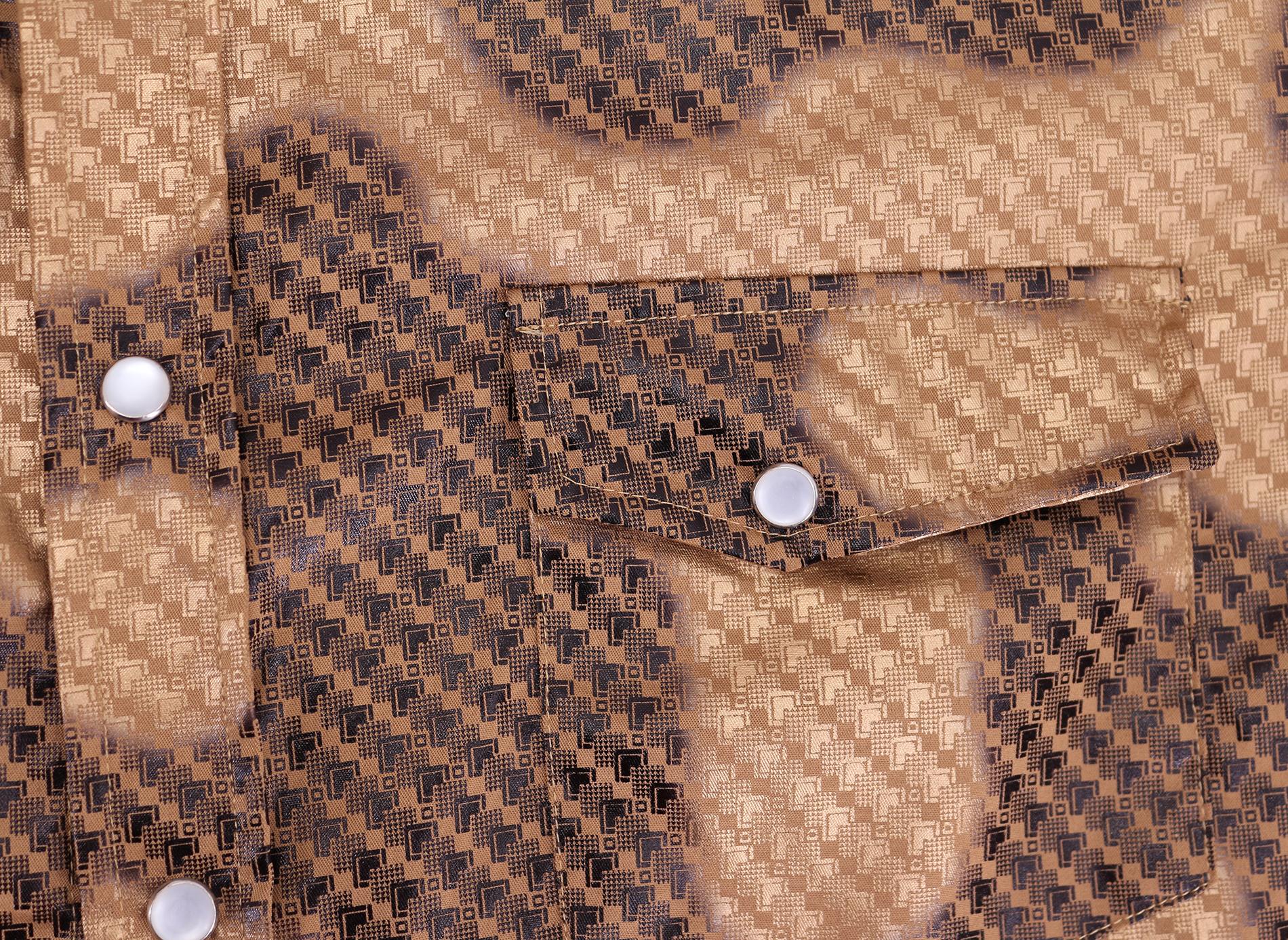 Men-039-s-Western-Long-Sleeve-Stylish-Metallic-Modern-Cowboy-Rodeo-Dress-Shirt thumbnail 29