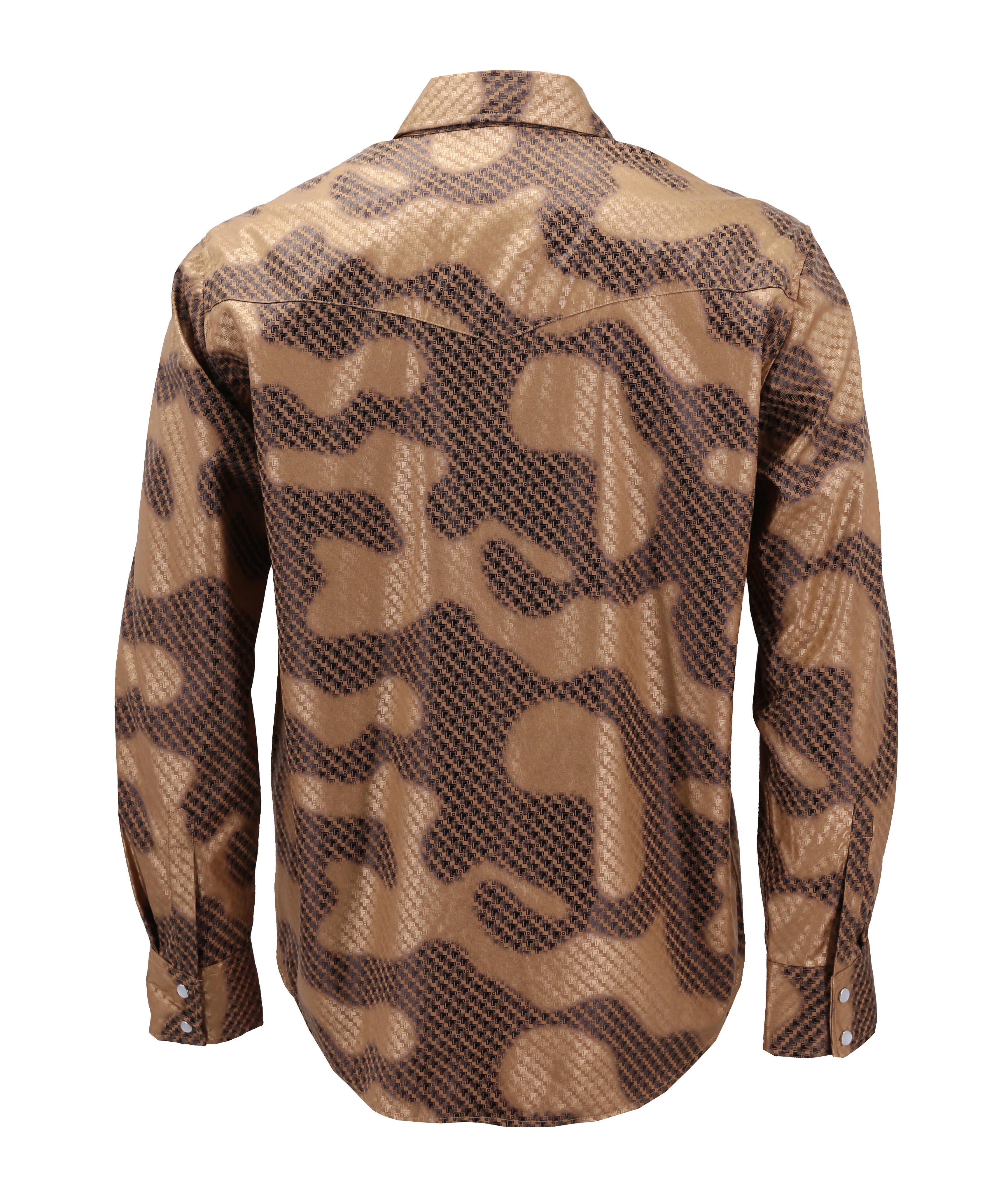 Men-039-s-Western-Long-Sleeve-Stylish-Metallic-Modern-Cowboy-Rodeo-Dress-Shirt thumbnail 28