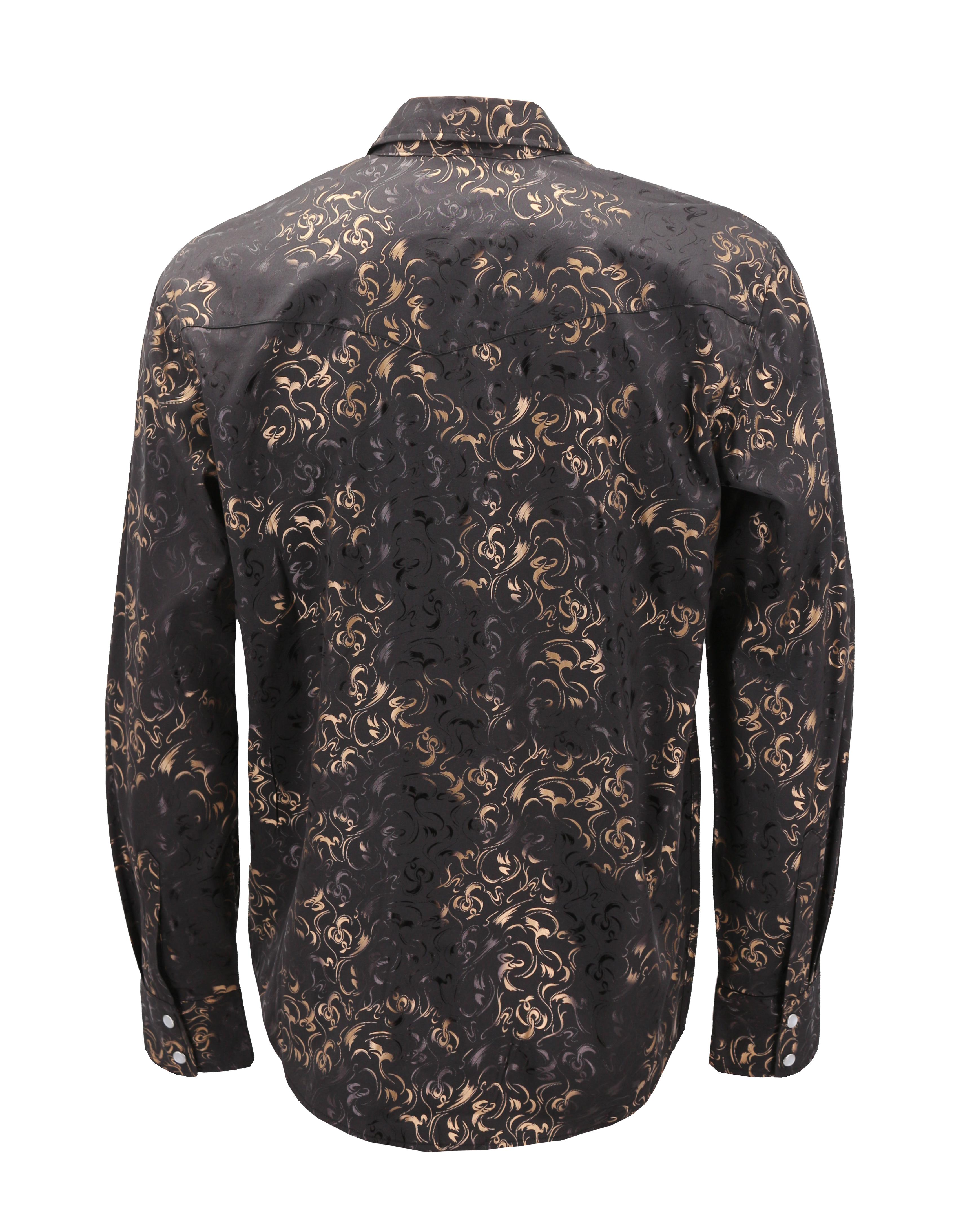 Men-039-s-Western-Long-Sleeve-Stylish-Metallic-Modern-Cowboy-Rodeo-Dress-Shirt thumbnail 31