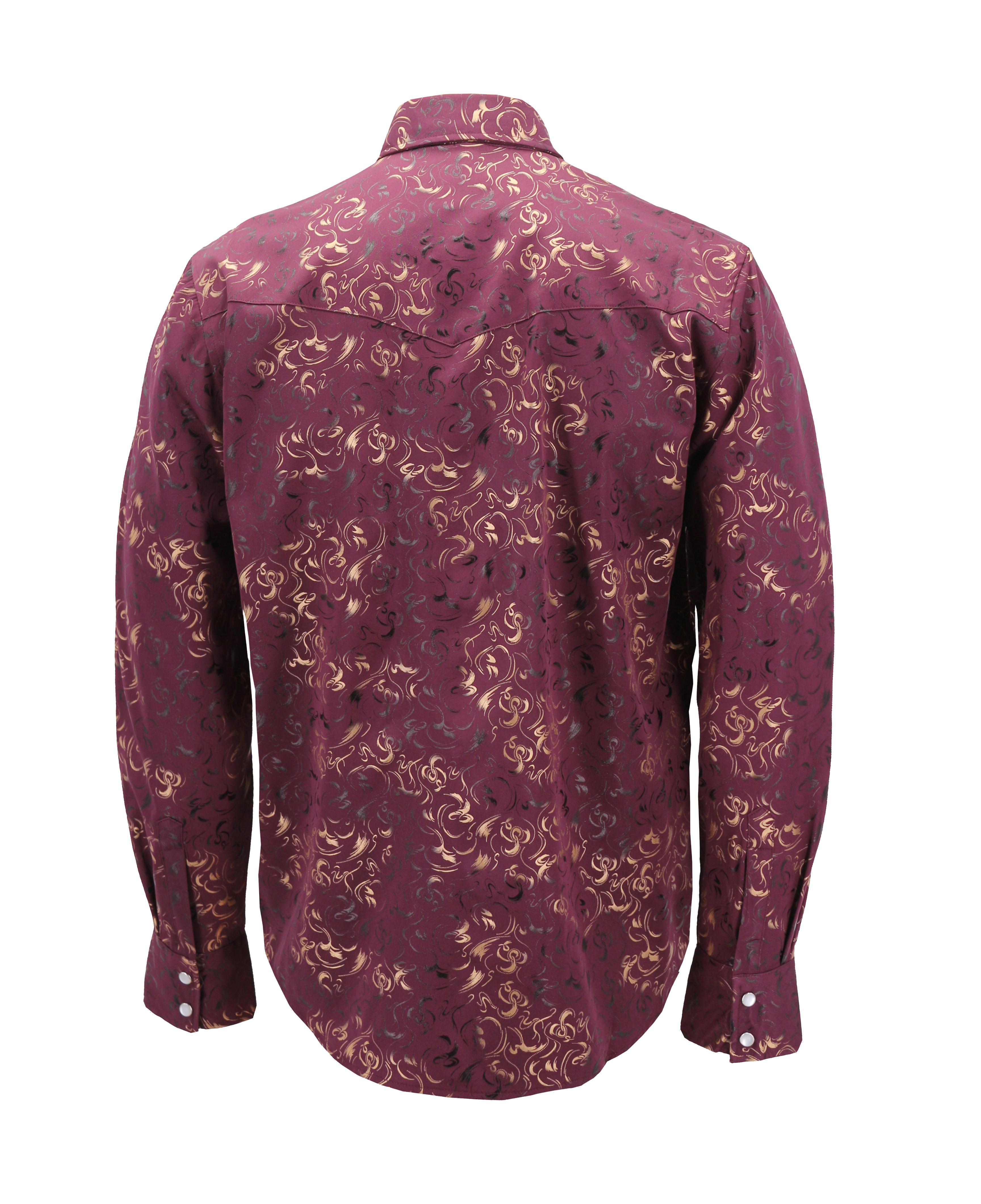 Men-039-s-Western-Long-Sleeve-Stylish-Metallic-Modern-Cowboy-Rodeo-Dress-Shirt thumbnail 16