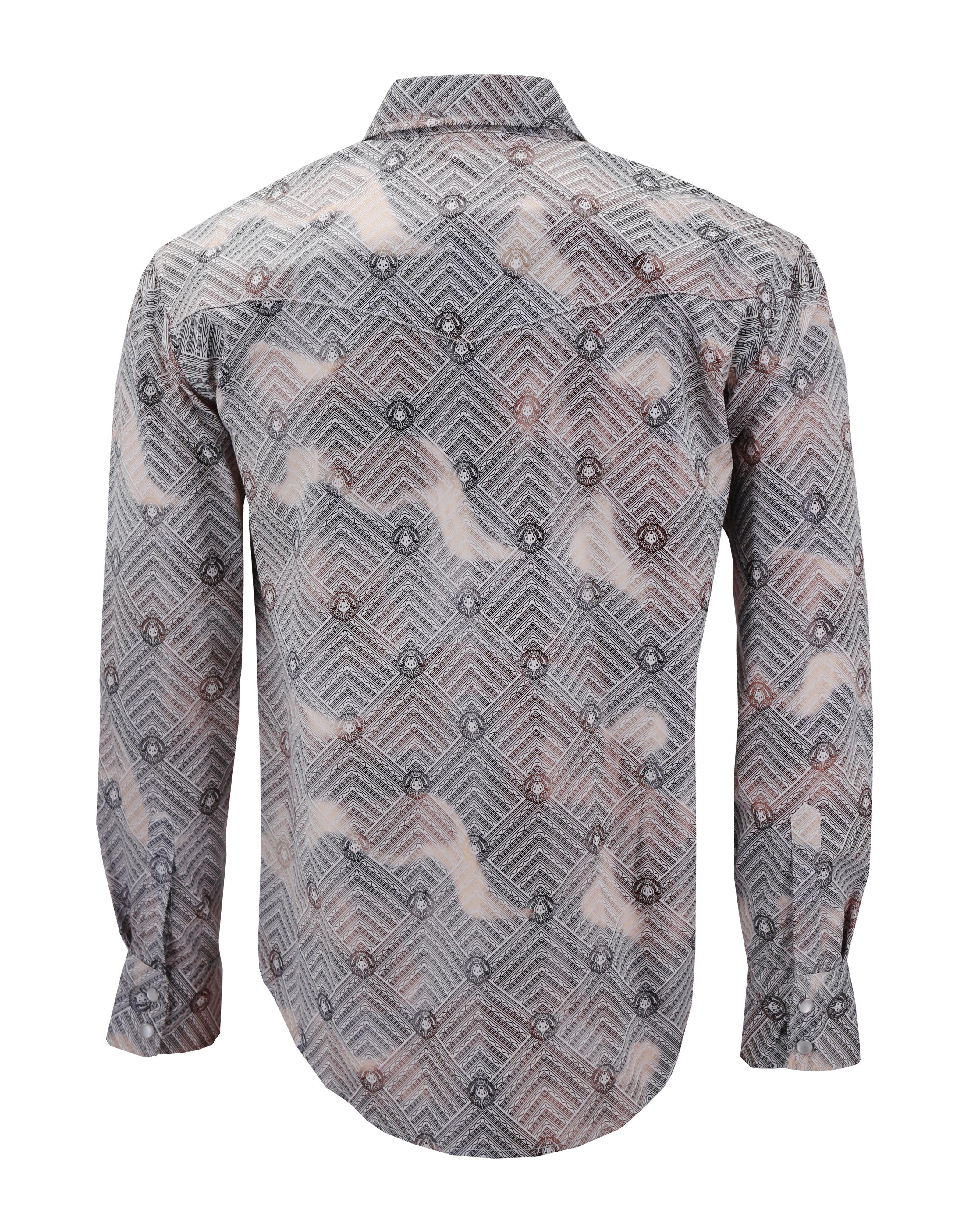 Men-039-s-Western-Long-Sleeve-Stylish-Metallic-Modern-Cowboy-Rodeo-Dress-Shirt thumbnail 19