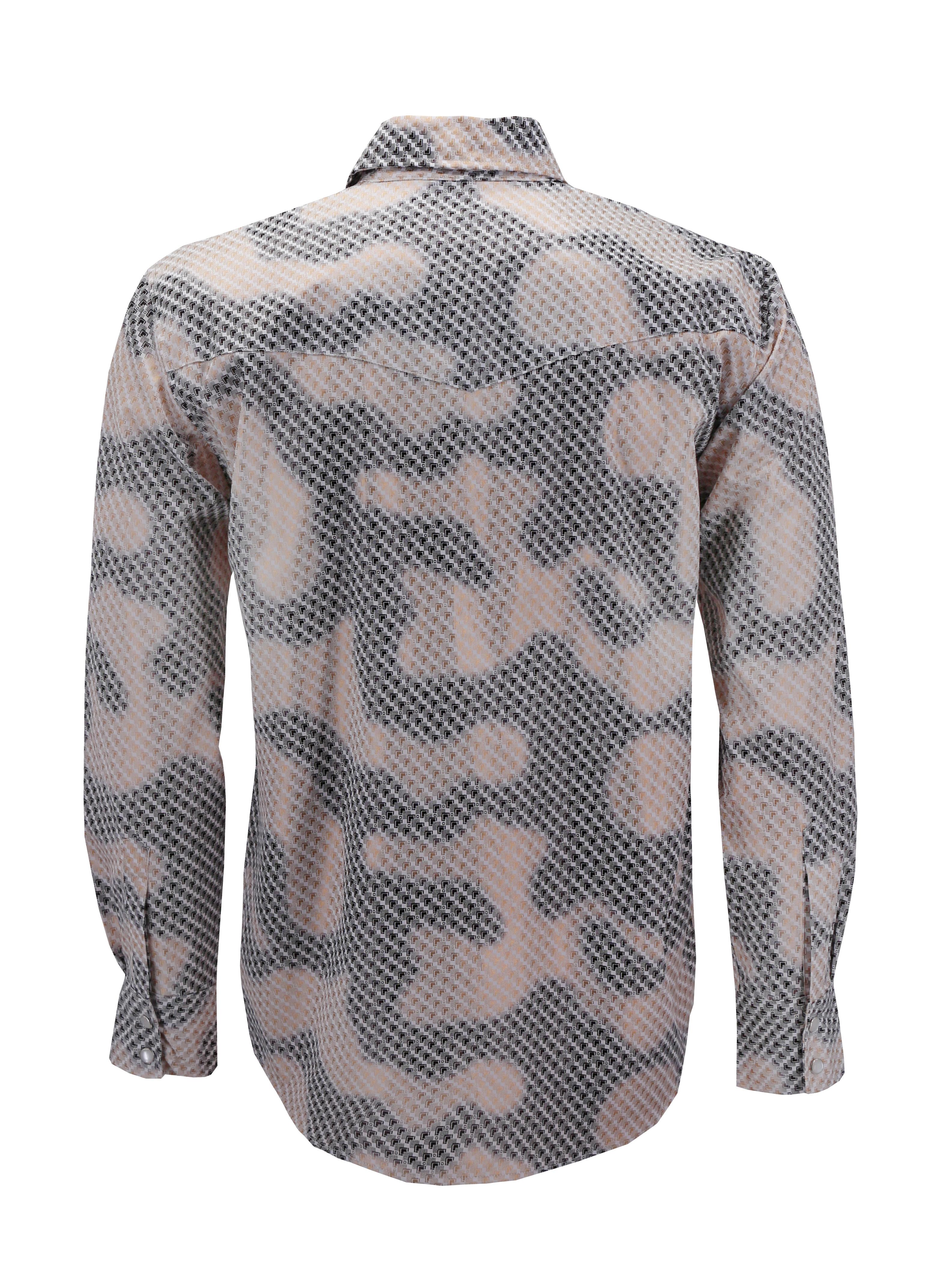 Men-039-s-Western-Long-Sleeve-Stylish-Metallic-Modern-Cowboy-Rodeo-Dress-Shirt thumbnail 22