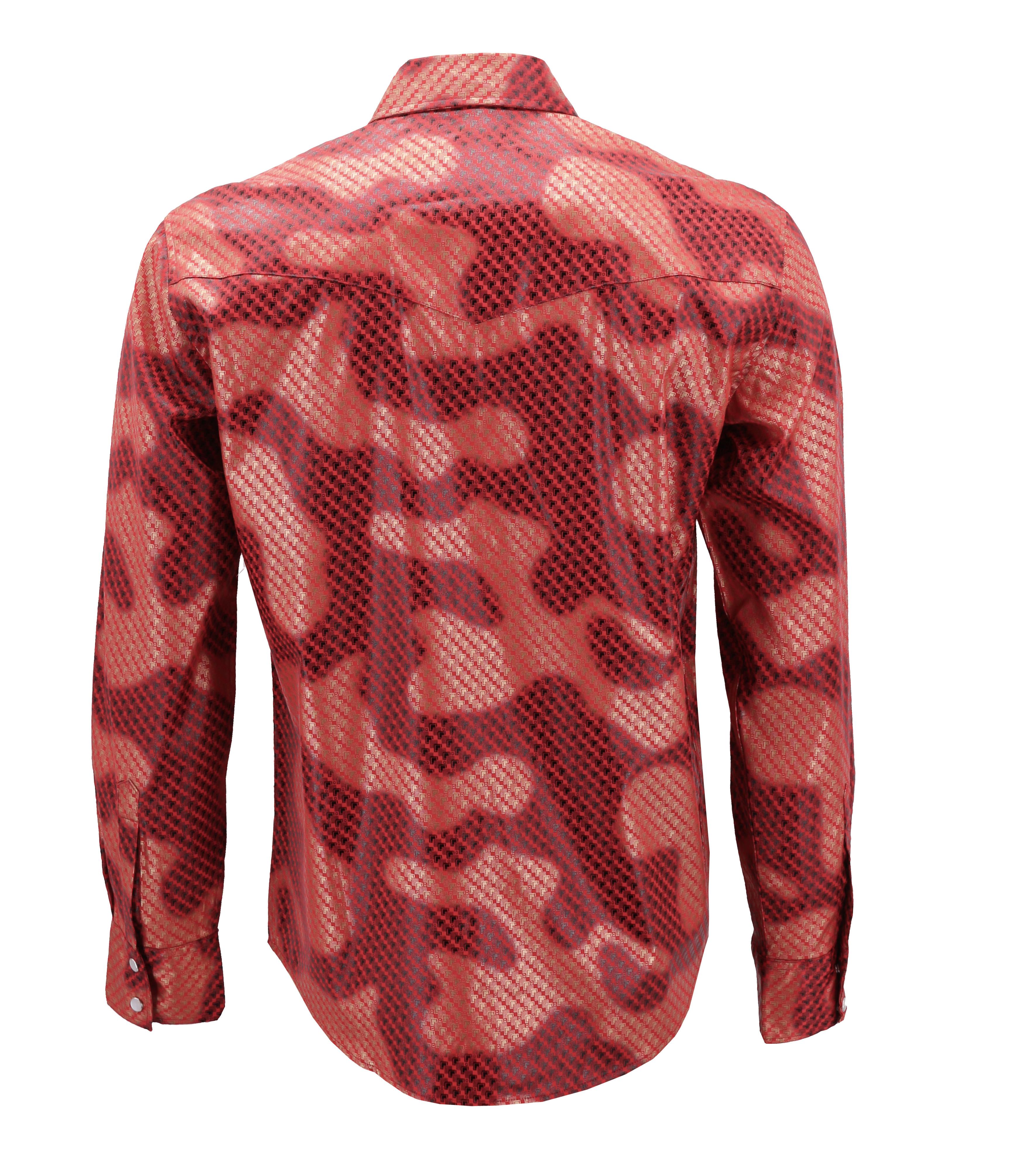 Men-039-s-Western-Long-Sleeve-Stylish-Metallic-Modern-Cowboy-Rodeo-Dress-Shirt thumbnail 25