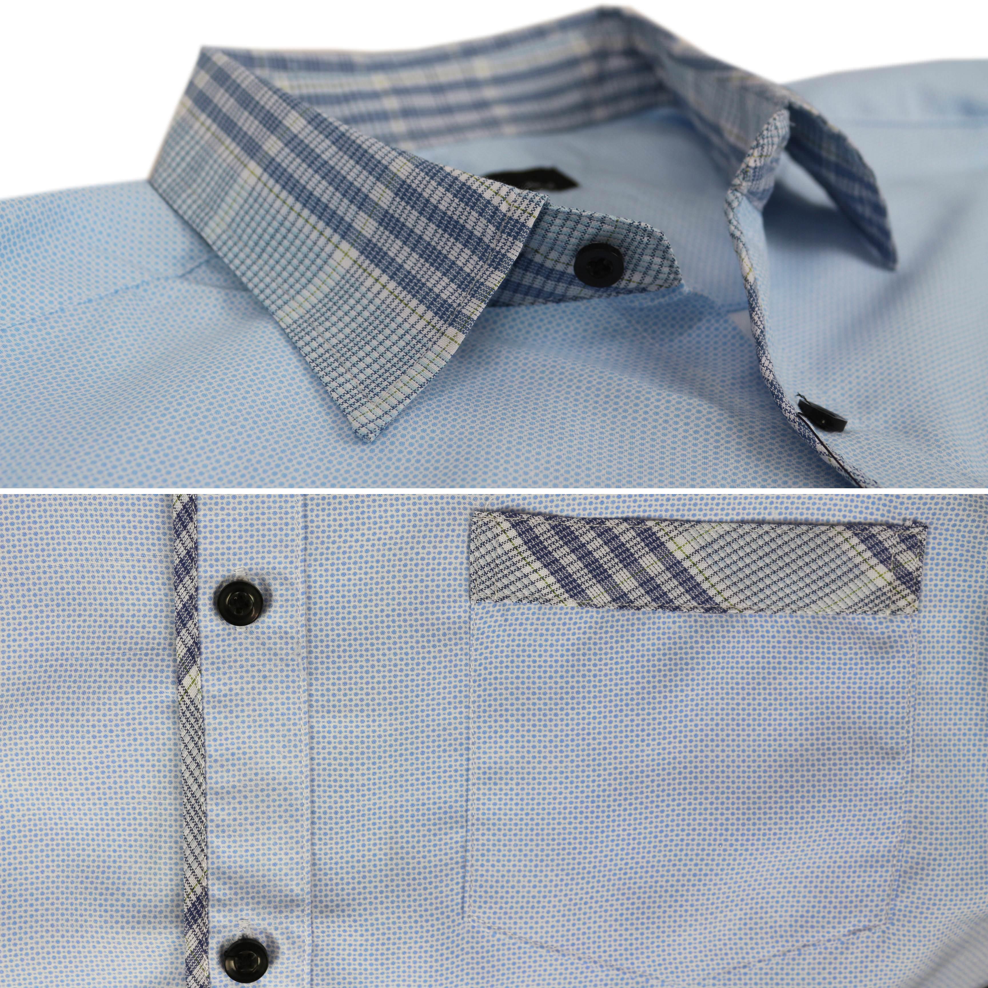 thumbnail 34 - LW-Men-039-s-Western-Button-Up-Long-Sleeve-Designer-Dress-Shirt
