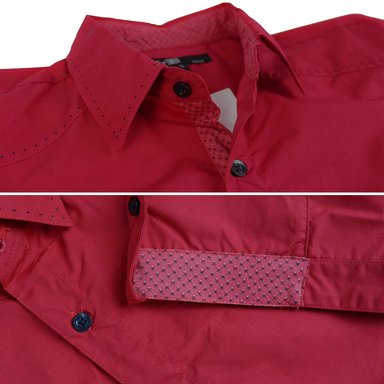 E-38-Italy-Men-039-s-Western-Button-Up-Short-Sleeve-Casual-Dress-Shirt-LY207 thumbnail 9