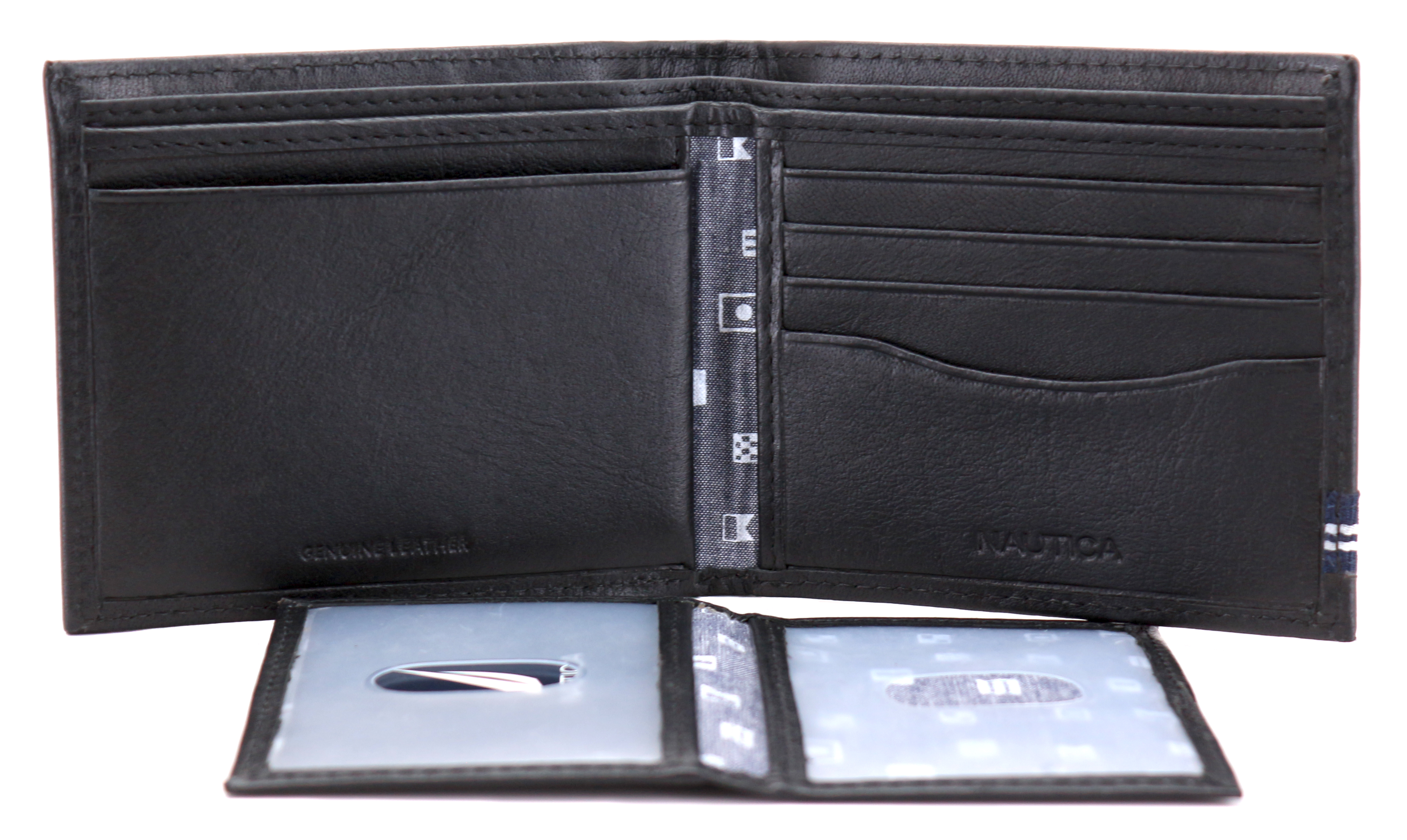 Nautica-Men-039-s-Genuine-Leather-Credit-Card-ID-Double-Billfold-Passcase-Wallet thumbnail 7