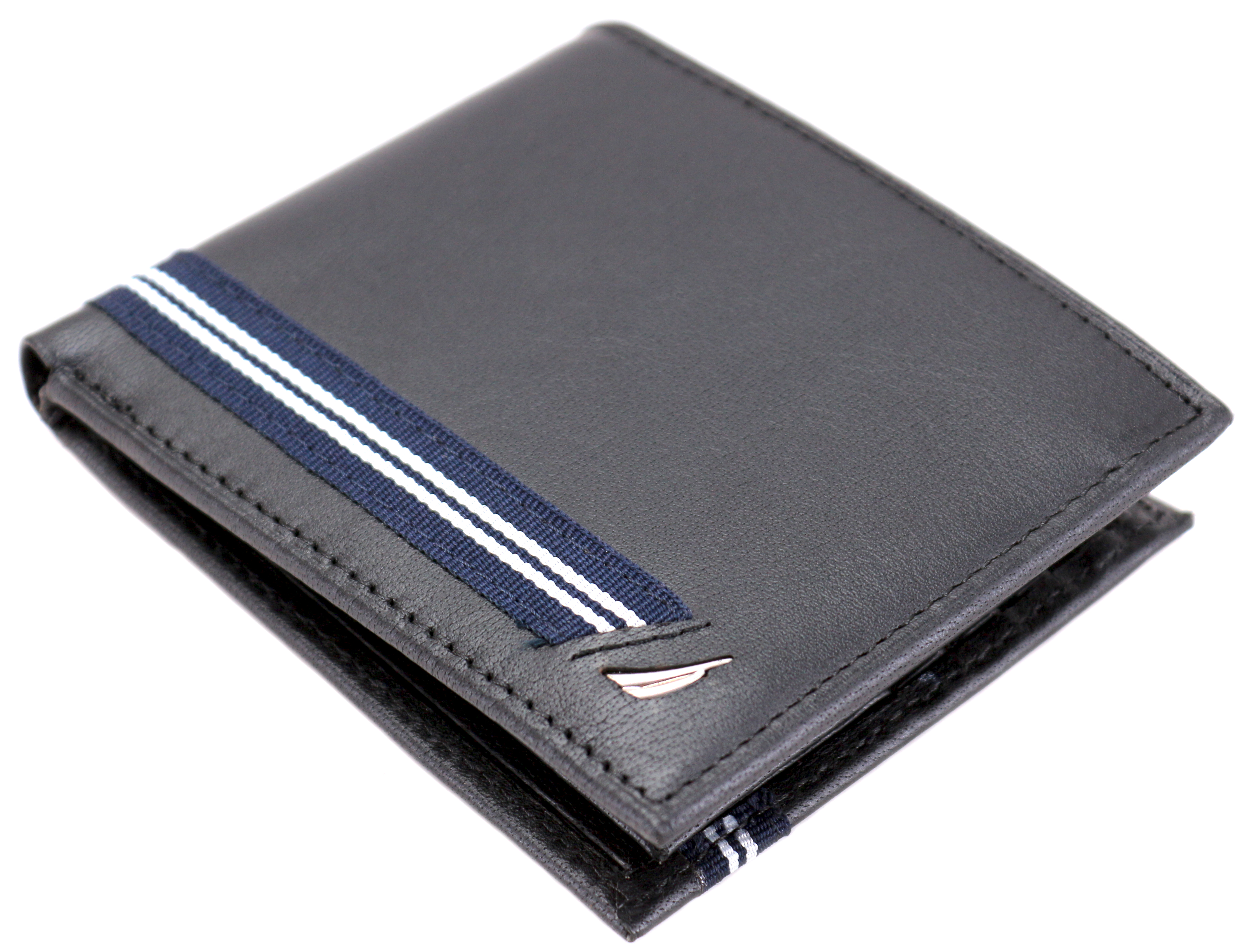 Nautica-Men-039-s-Genuine-Leather-Credit-Card-ID-Double-Billfold-Passcase-Wallet thumbnail 4