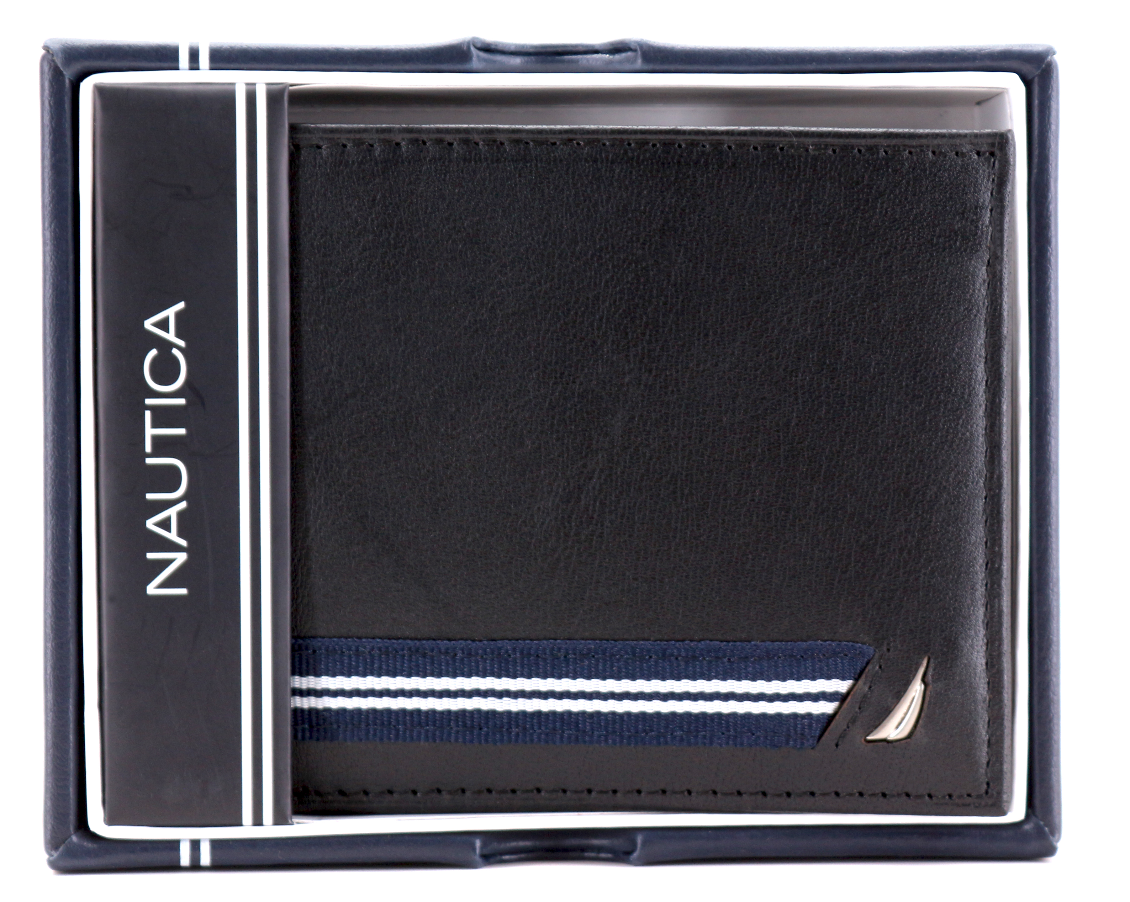 Nautica-Men-039-s-Genuine-Leather-Credit-Card-ID-Double-Billfold-Passcase-Wallet thumbnail 11