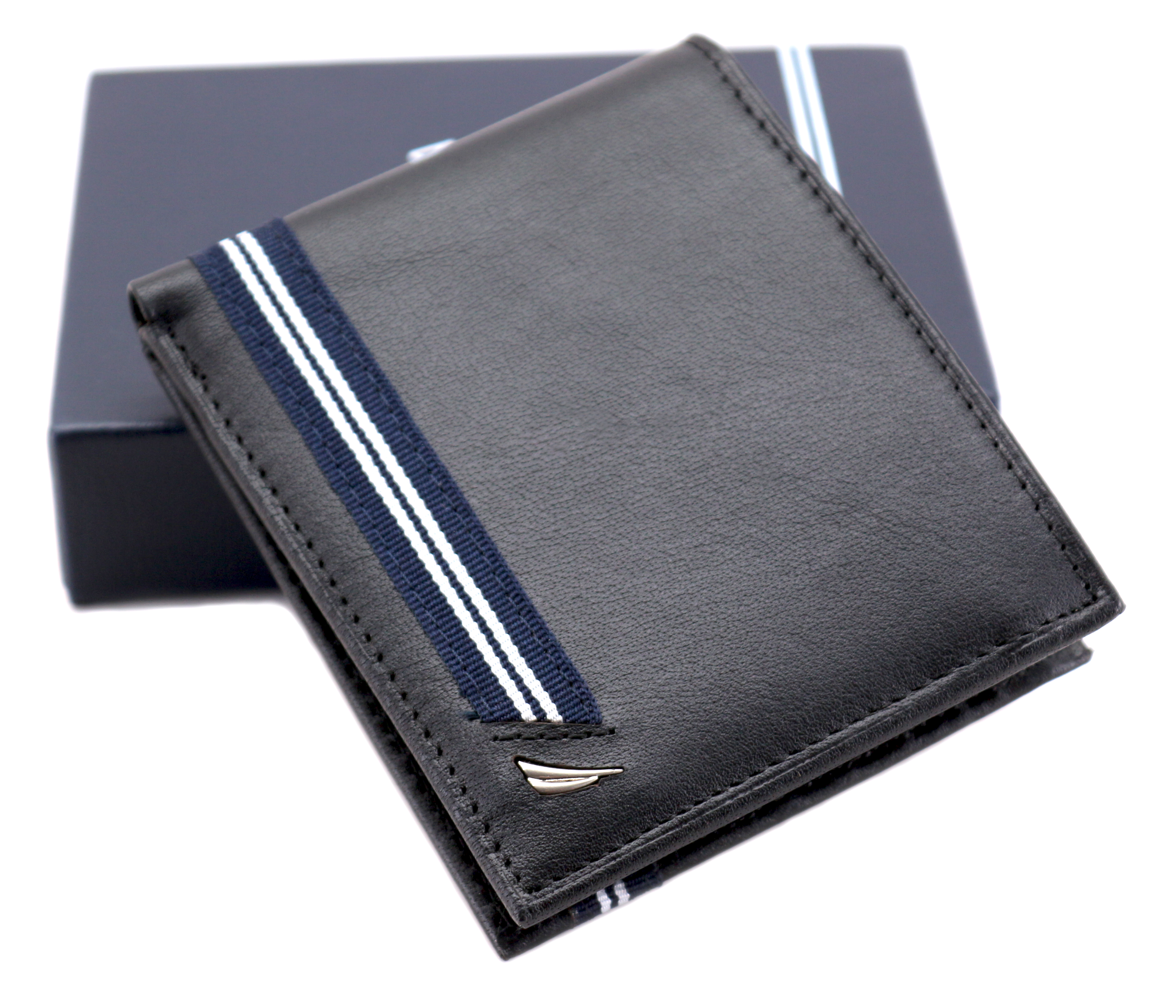 Nautica-Men-039-s-Genuine-Leather-Credit-Card-ID-Double-Billfold-Passcase-Wallet thumbnail 9