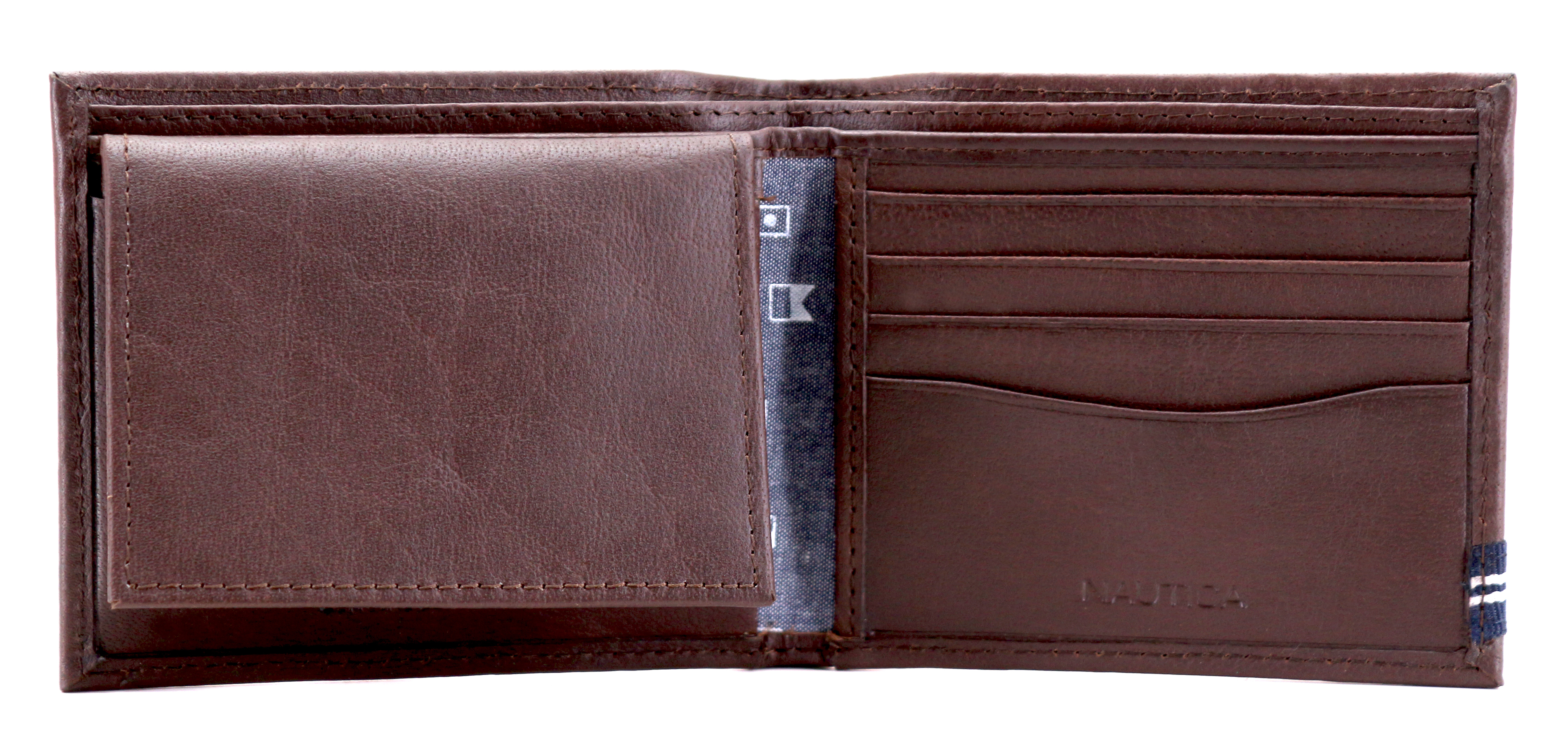 Nautica-Men-039-s-Genuine-Leather-Credit-Card-ID-Double-Billfold-Passcase-Wallet thumbnail 16