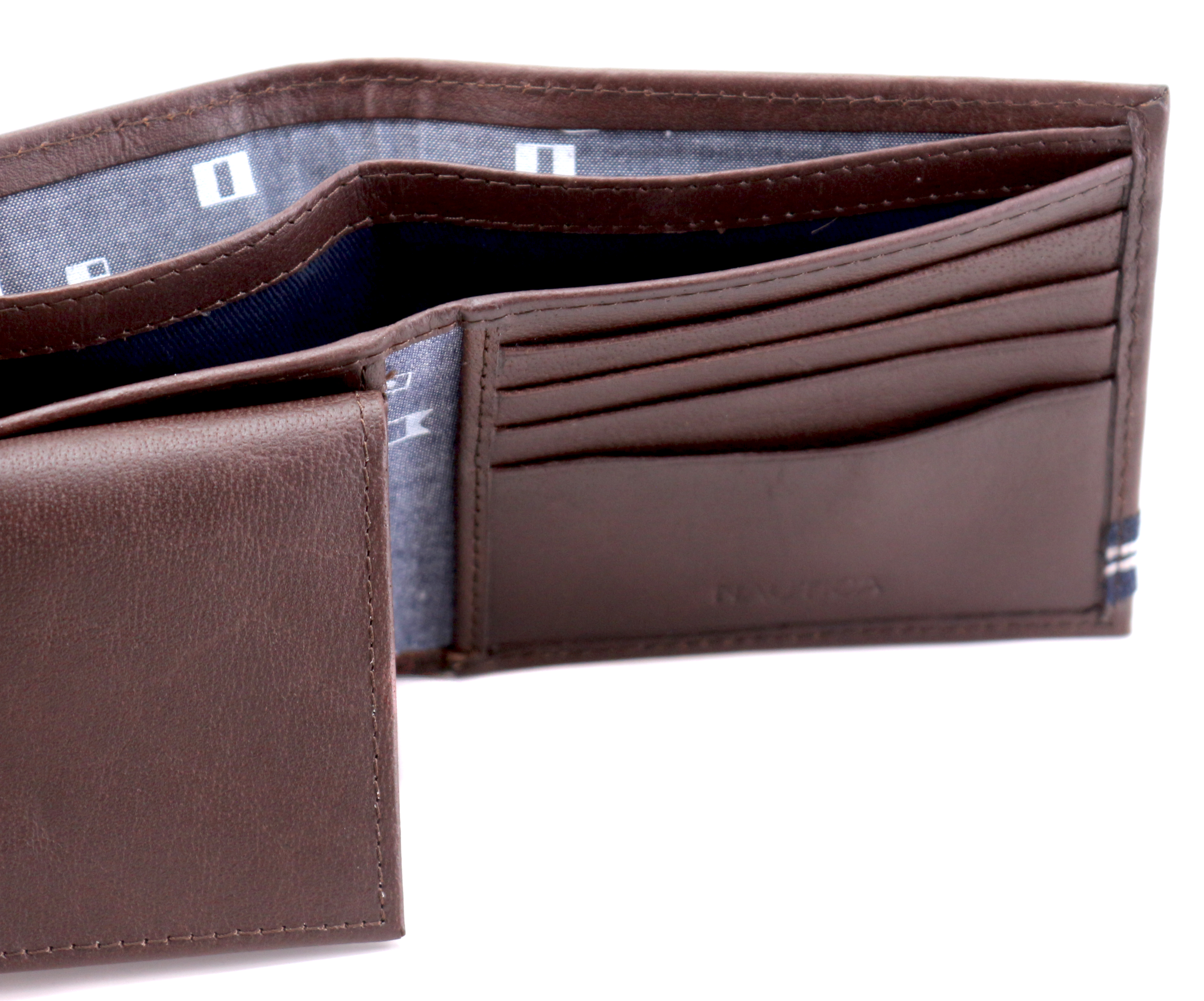 Nautica-Men-039-s-Genuine-Leather-Credit-Card-ID-Double-Billfold-Passcase-Wallet thumbnail 18