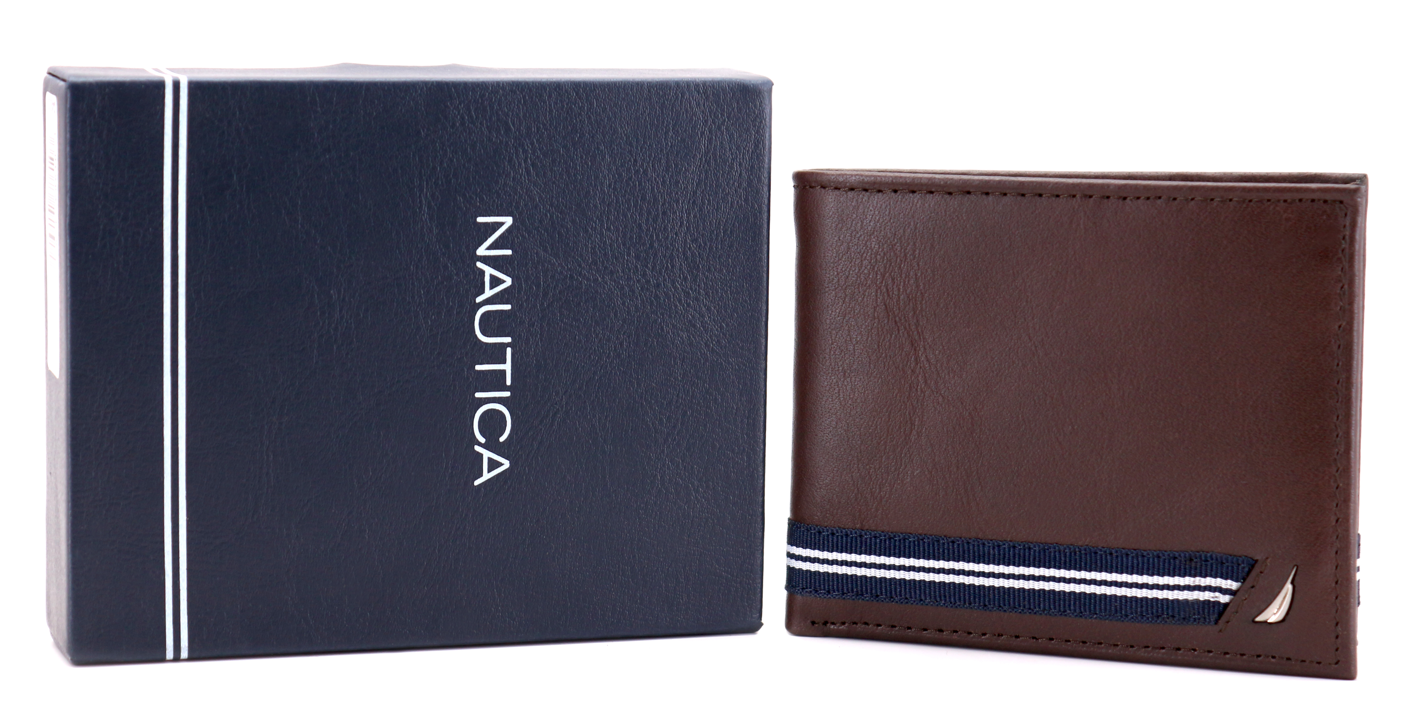Nautica-Men-039-s-Genuine-Leather-Credit-Card-ID-Double-Billfold-Passcase-Wallet thumbnail 20