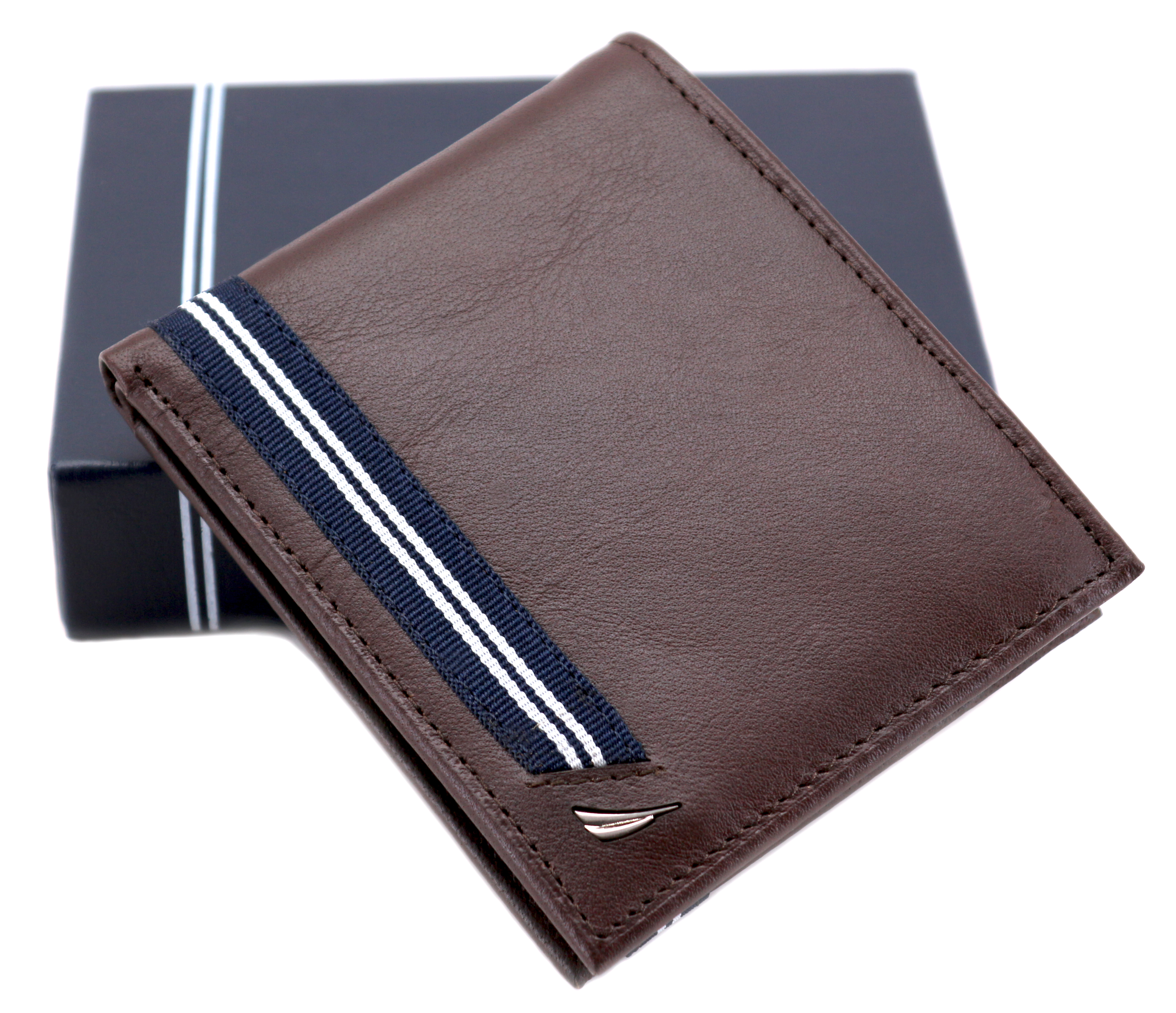 Nautica-Men-039-s-Genuine-Leather-Credit-Card-ID-Double-Billfold-Passcase-Wallet thumbnail 19