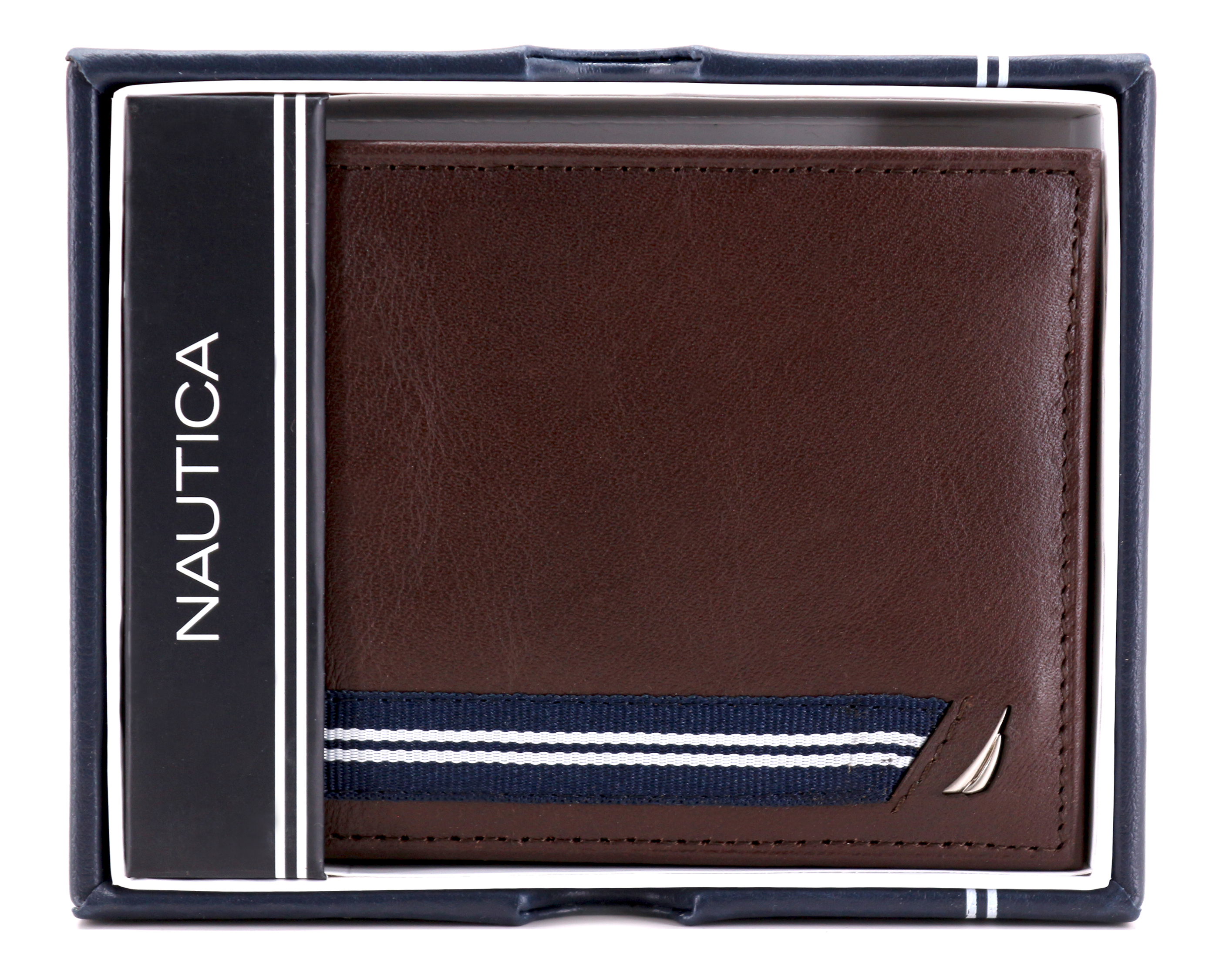 Nautica-Men-039-s-Genuine-Leather-Credit-Card-ID-Double-Billfold-Passcase-Wallet thumbnail 21