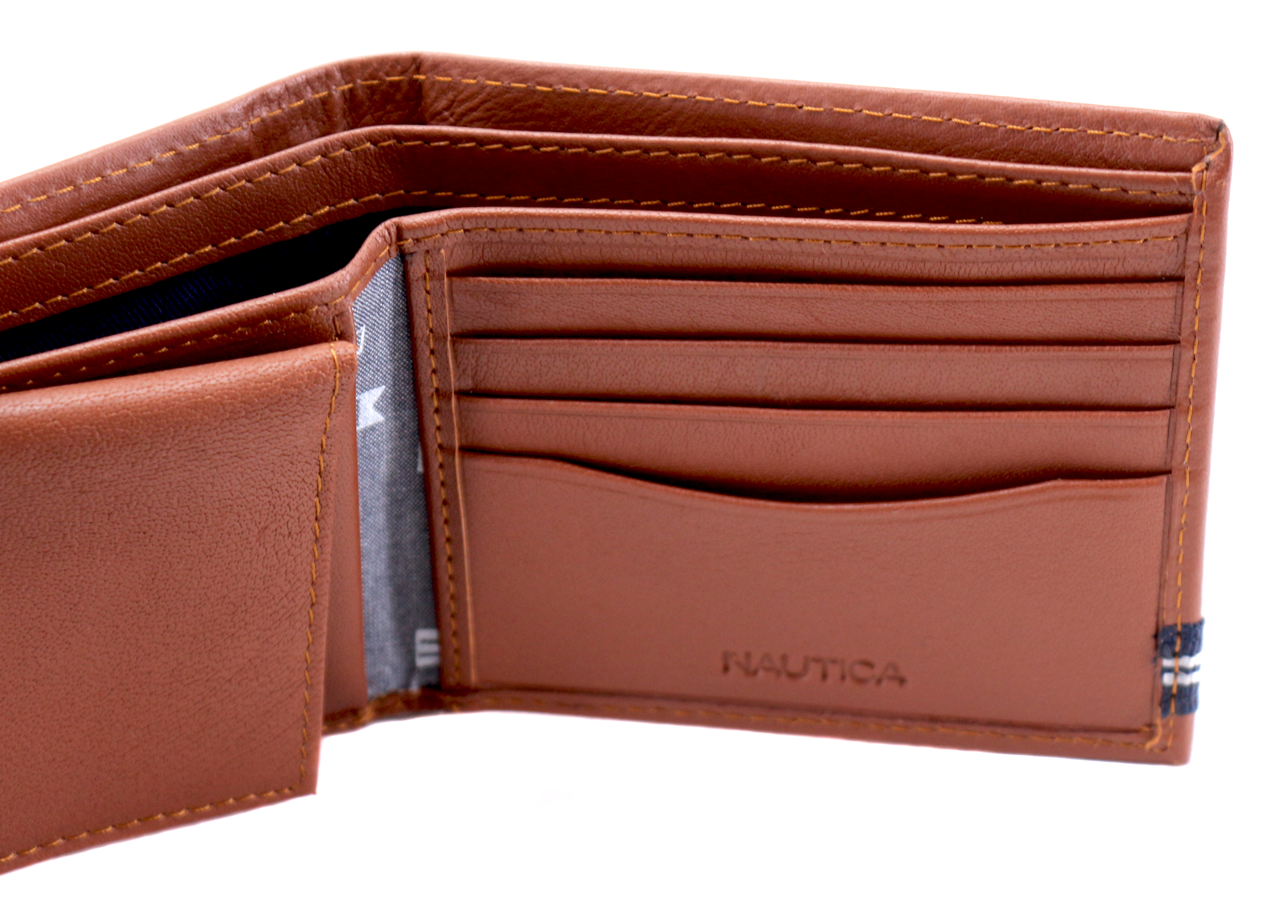 Nautica-Men-039-s-Genuine-Leather-Credit-Card-ID-Double-Billfold-Passcase-Wallet thumbnail 28