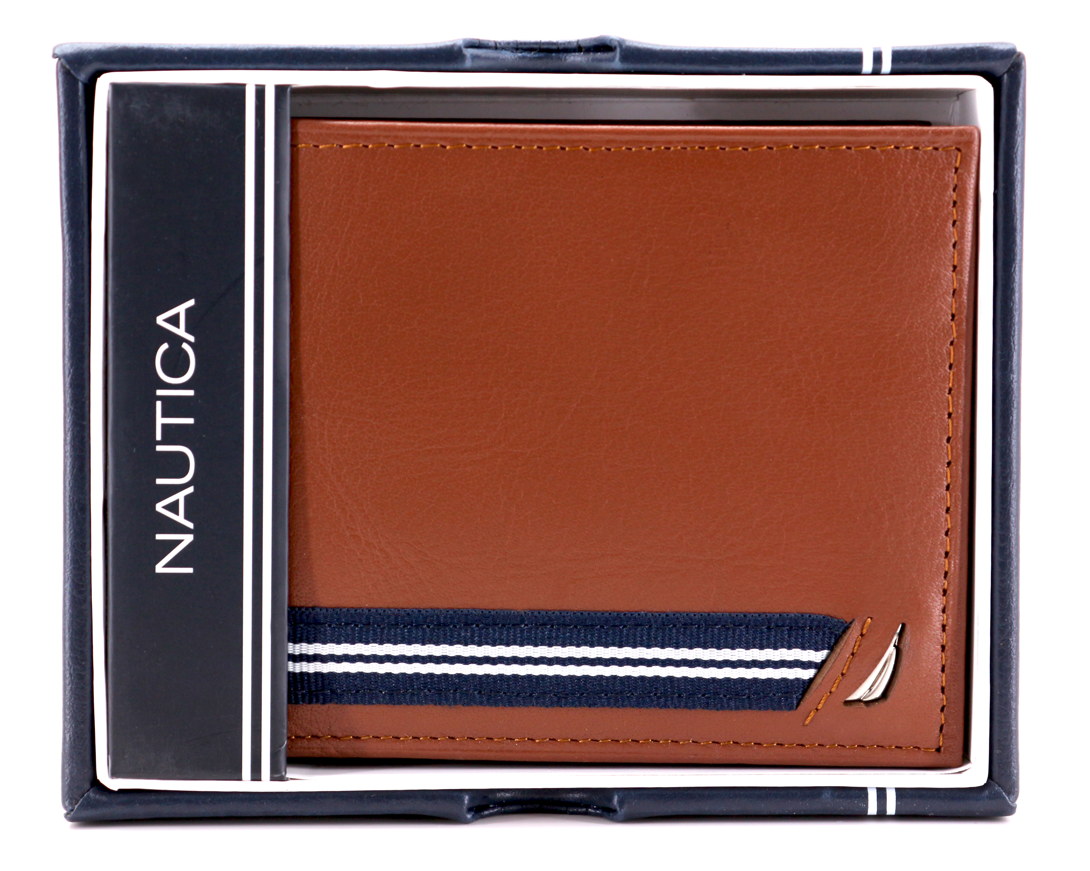 Nautica-Men-039-s-Genuine-Leather-Credit-Card-ID-Double-Billfold-Passcase-Wallet thumbnail 31