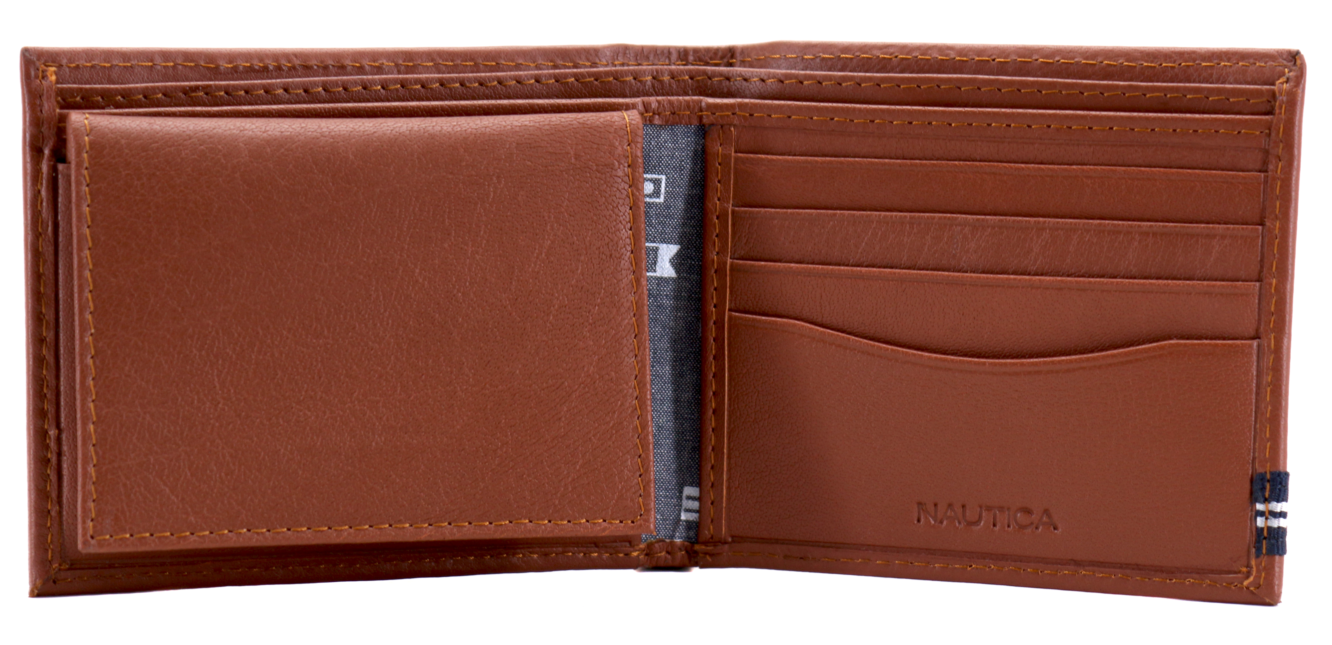Nautica-Men-039-s-Genuine-Leather-Credit-Card-ID-Double-Billfold-Passcase-Wallet thumbnail 26