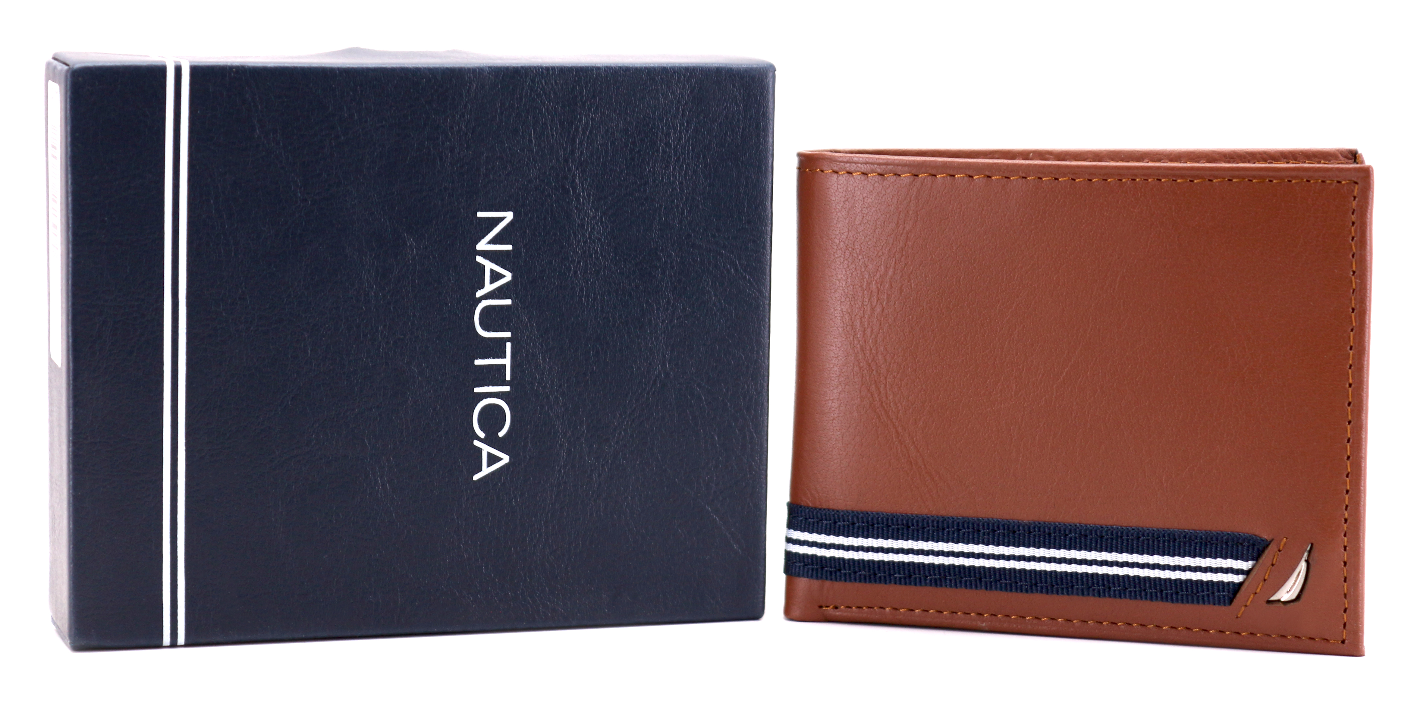 Nautica-Men-039-s-Genuine-Leather-Credit-Card-ID-Double-Billfold-Passcase-Wallet thumbnail 30