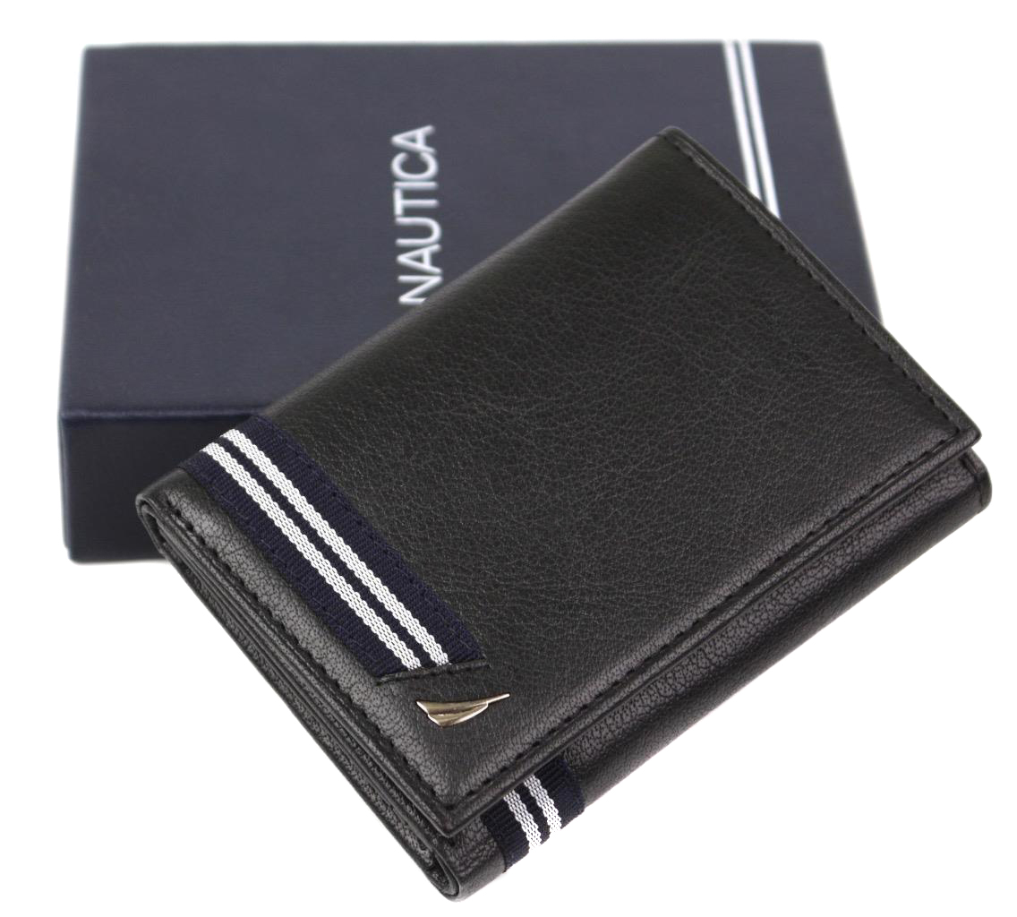 Nautica-Men-039-s-Genuine-Leather-Credit-Card-Id-Holder-Trifold-Wallet thumbnail 10