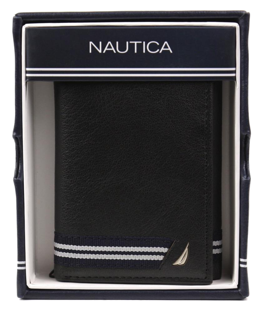 Nautica-Men-039-s-Genuine-Leather-Credit-Card-Id-Holder-Trifold-Wallet thumbnail 11