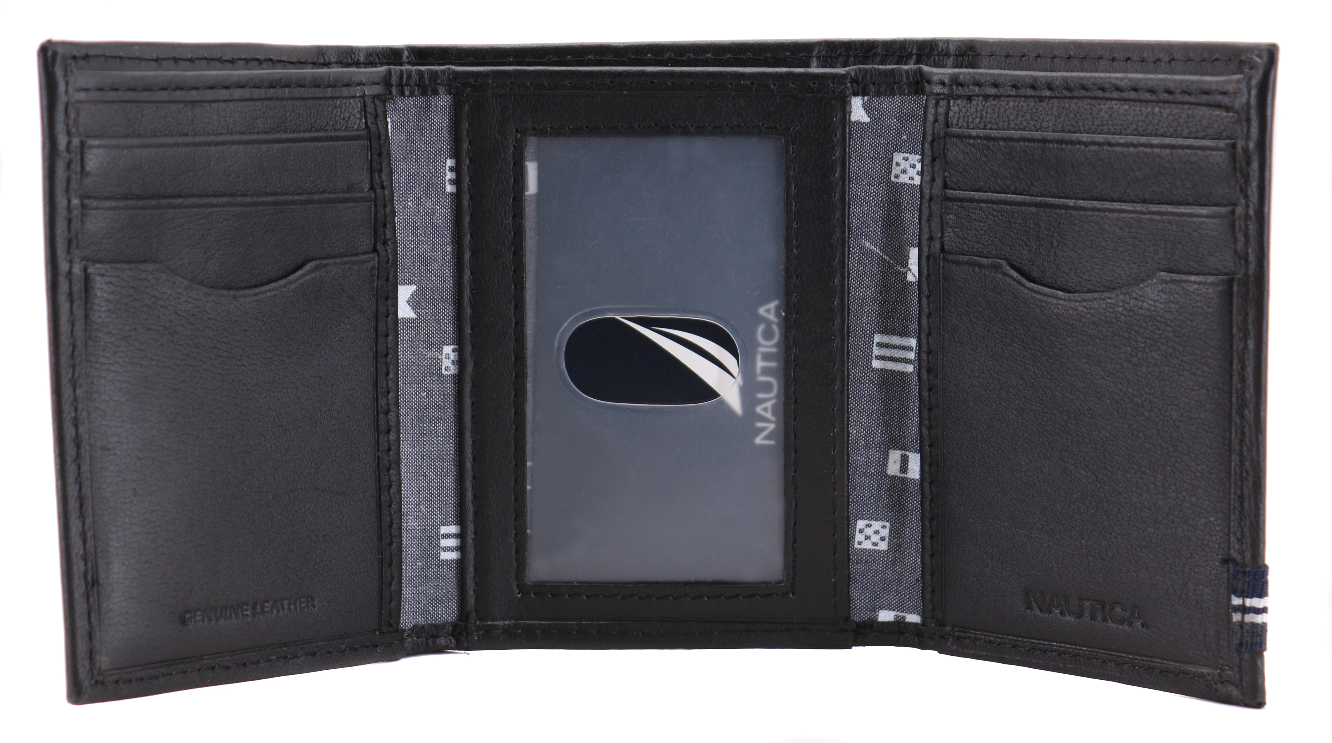 Nautica-Men-039-s-Genuine-Leather-Credit-Card-Id-Holder-Trifold-Wallet thumbnail 9