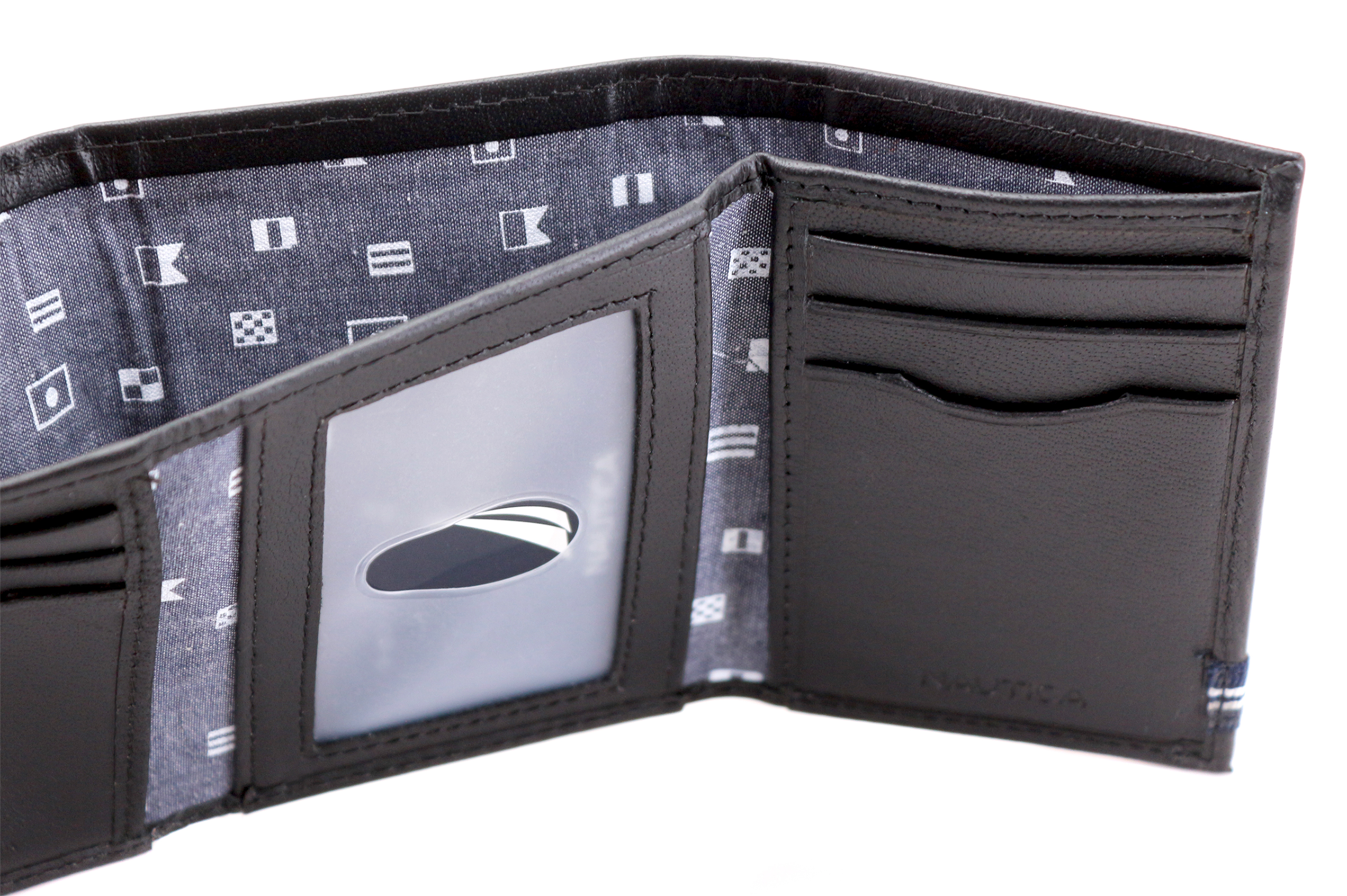 Nautica-Men-039-s-Genuine-Leather-Credit-Card-Id-Holder-Trifold-Wallet thumbnail 8