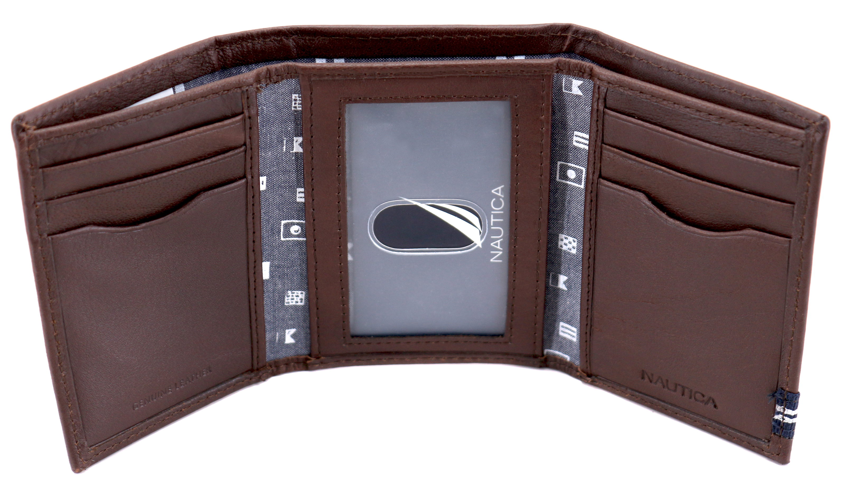 Nautica-Men-039-s-Genuine-Leather-Credit-Card-Id-Holder-Trifold-Wallet thumbnail 16