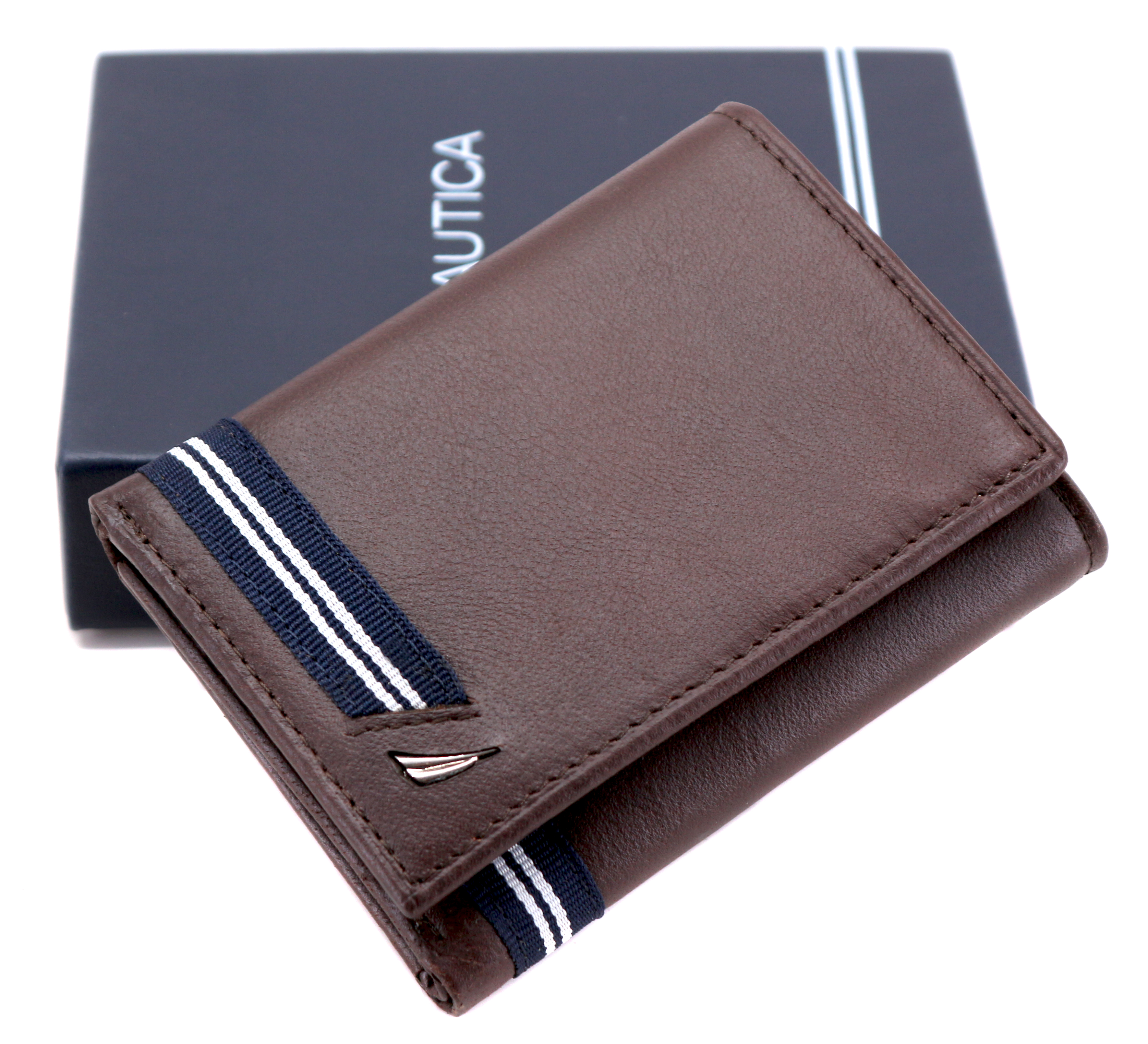 Nautica-Men-039-s-Genuine-Leather-Credit-Card-Id-Holder-Trifold-Wallet thumbnail 19
