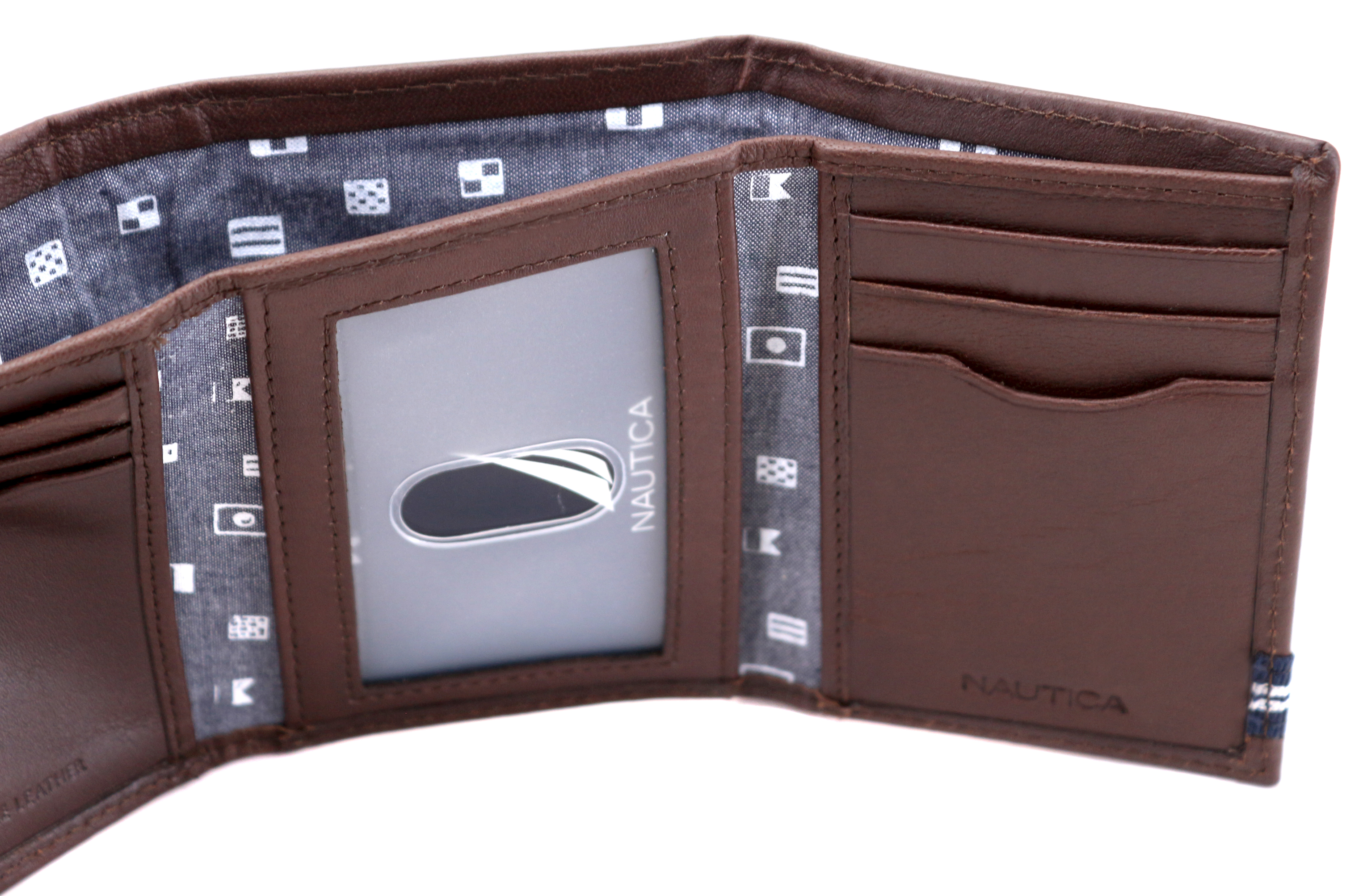 Nautica-Men-039-s-Genuine-Leather-Credit-Card-Id-Holder-Trifold-Wallet thumbnail 17