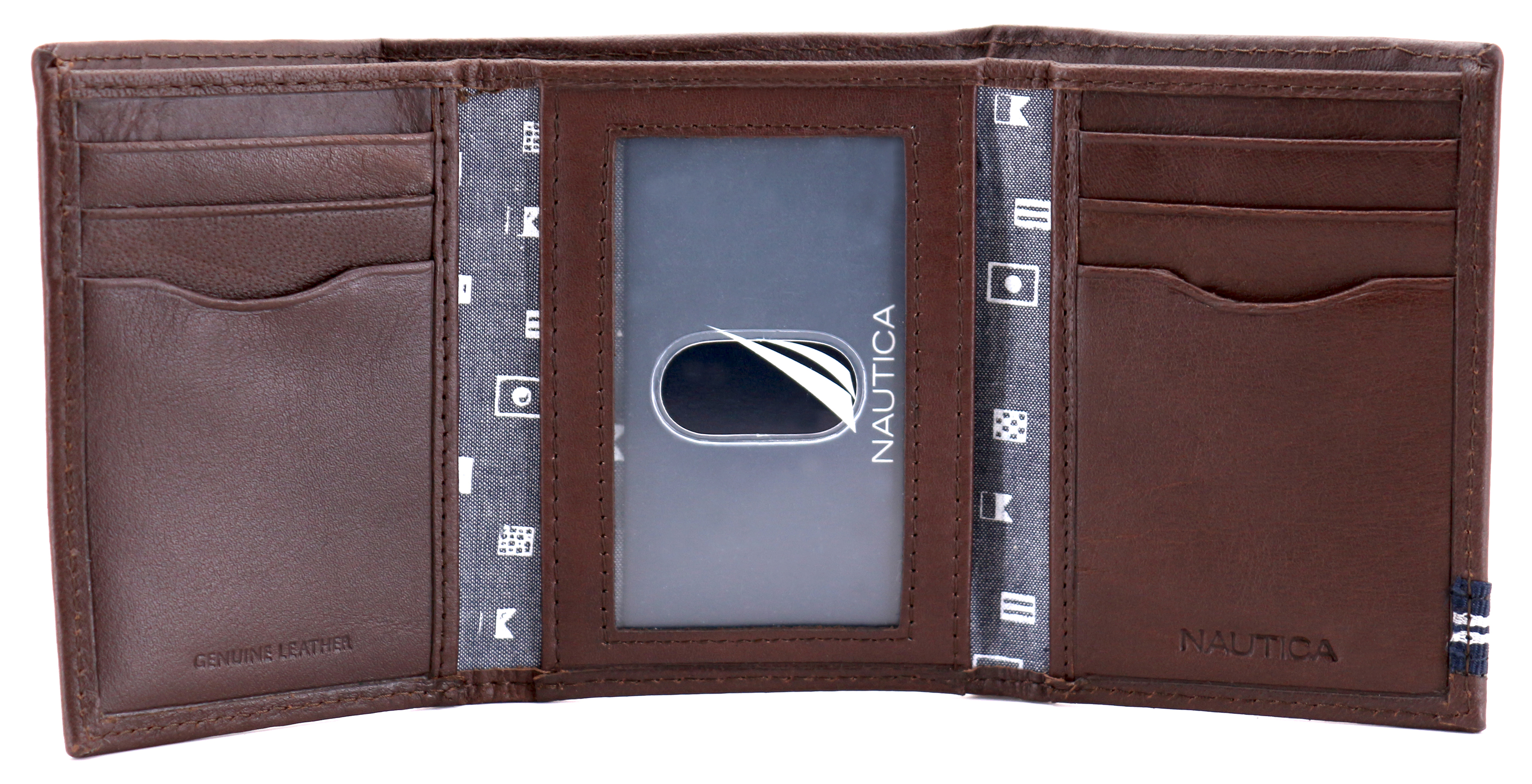 Nautica-Men-039-s-Genuine-Leather-Credit-Card-Id-Holder-Trifold-Wallet thumbnail 18
