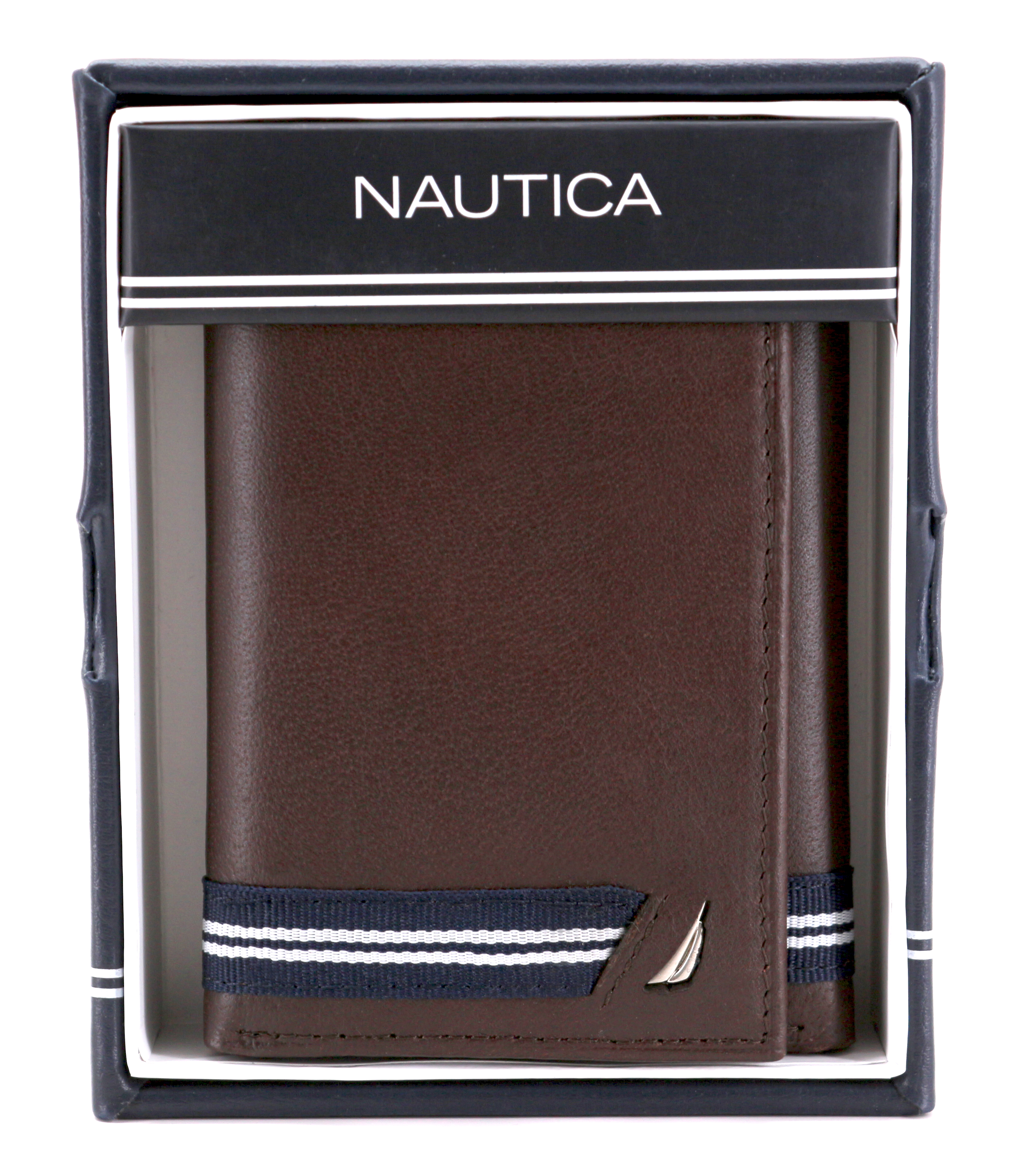 Nautica-Men-039-s-Genuine-Leather-Credit-Card-Id-Holder-Trifold-Wallet thumbnail 20