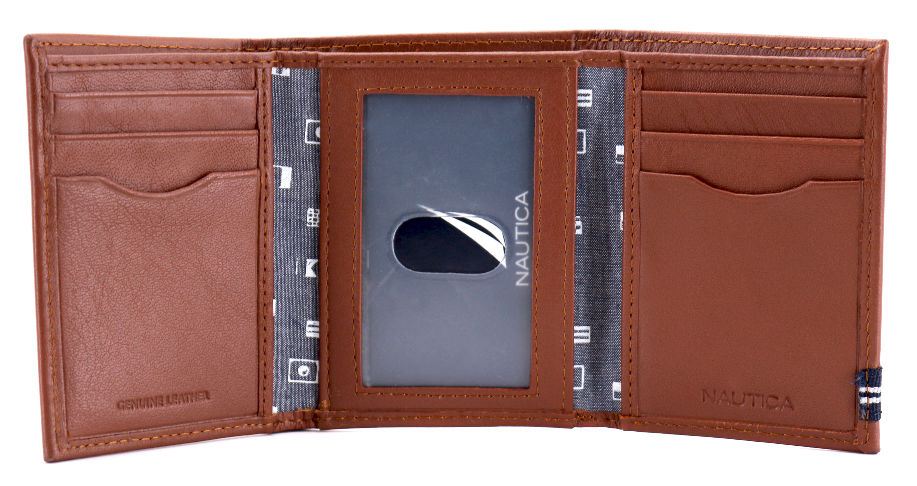 Nautica-Men-039-s-Genuine-Leather-Credit-Card-Id-Holder-Trifold-Wallet thumbnail 27
