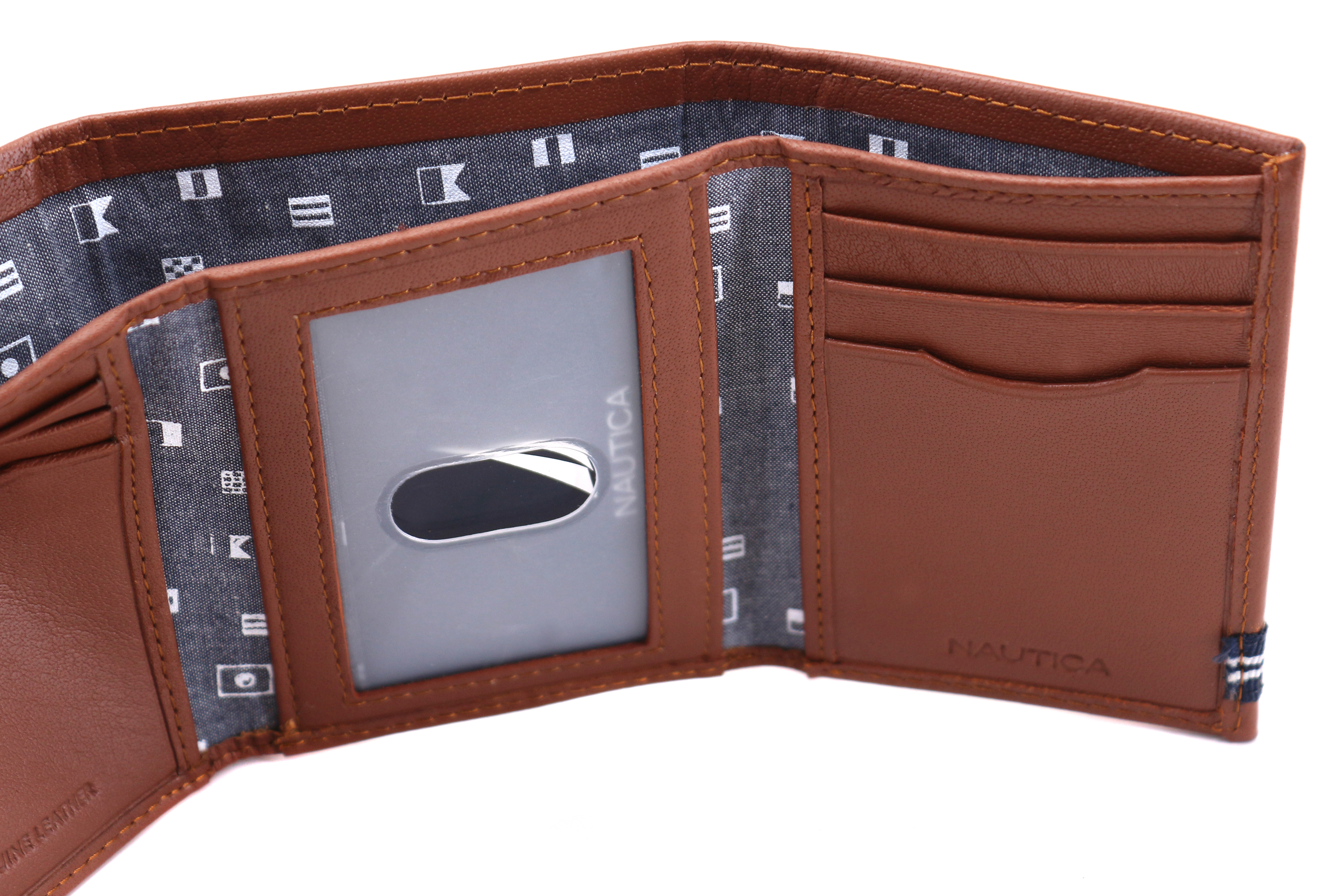Nautica-Men-039-s-Genuine-Leather-Credit-Card-Id-Holder-Trifold-Wallet thumbnail 26