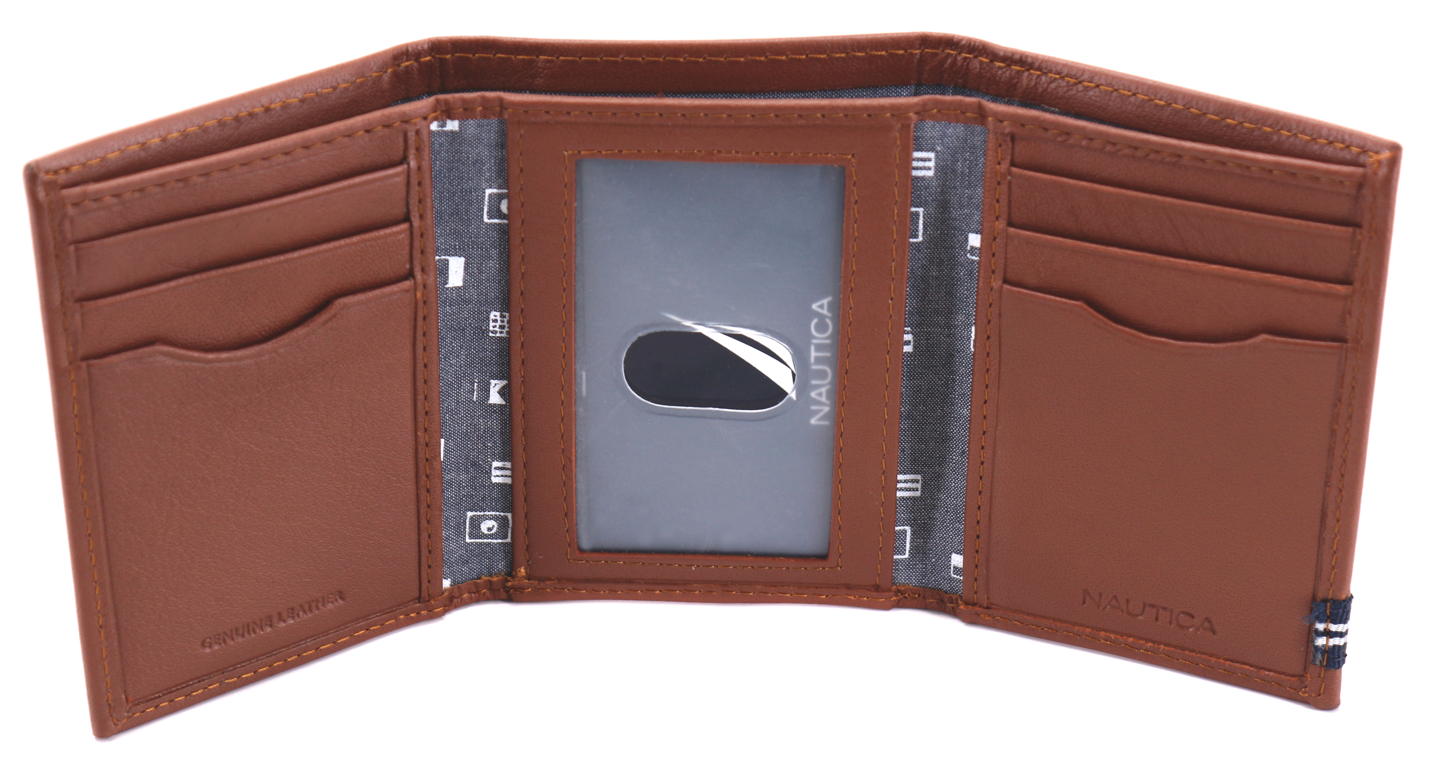 Nautica-Men-039-s-Genuine-Leather-Credit-Card-Id-Holder-Trifold-Wallet thumbnail 25