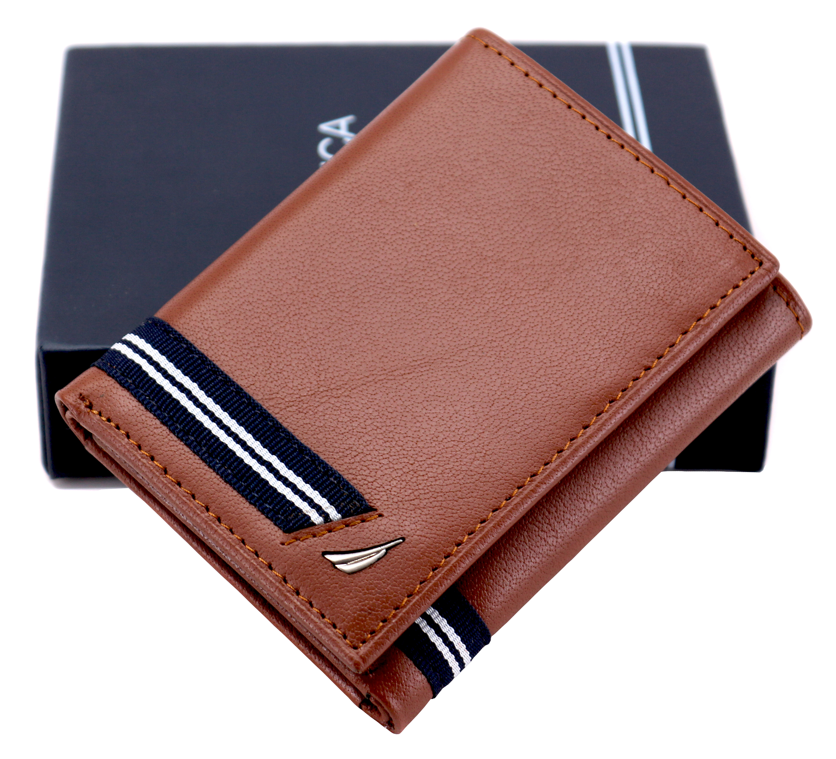 Nautica-Men-039-s-Genuine-Leather-Credit-Card-Id-Holder-Trifold-Wallet thumbnail 28