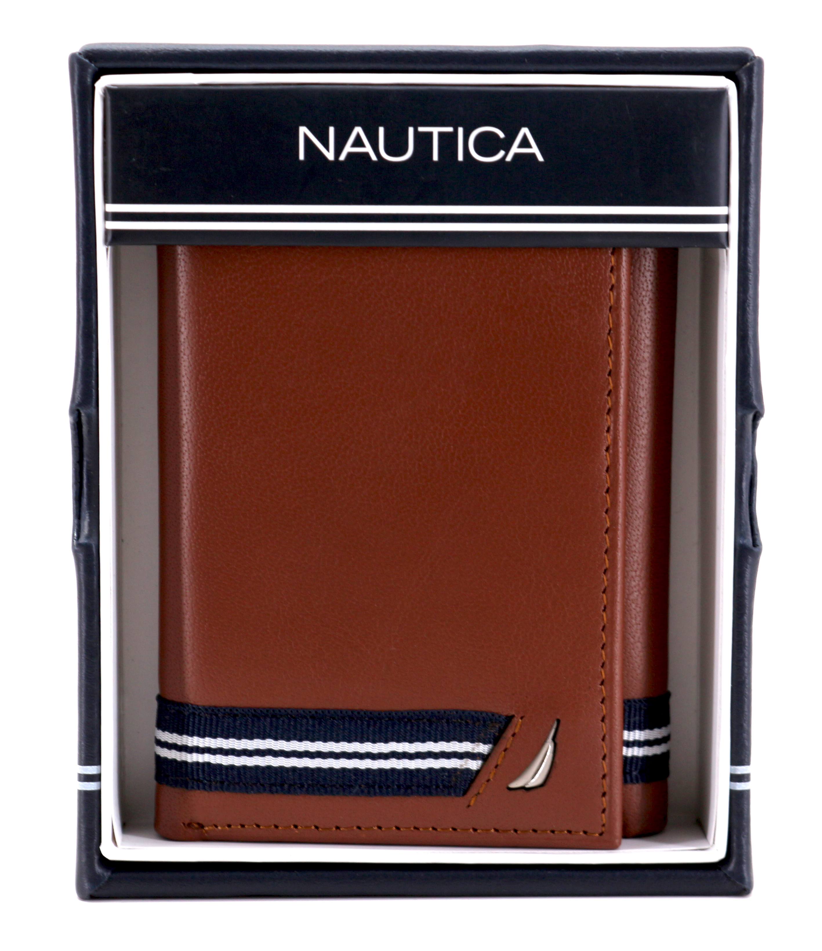 Nautica-Men-039-s-Genuine-Leather-Credit-Card-Id-Holder-Trifold-Wallet thumbnail 29