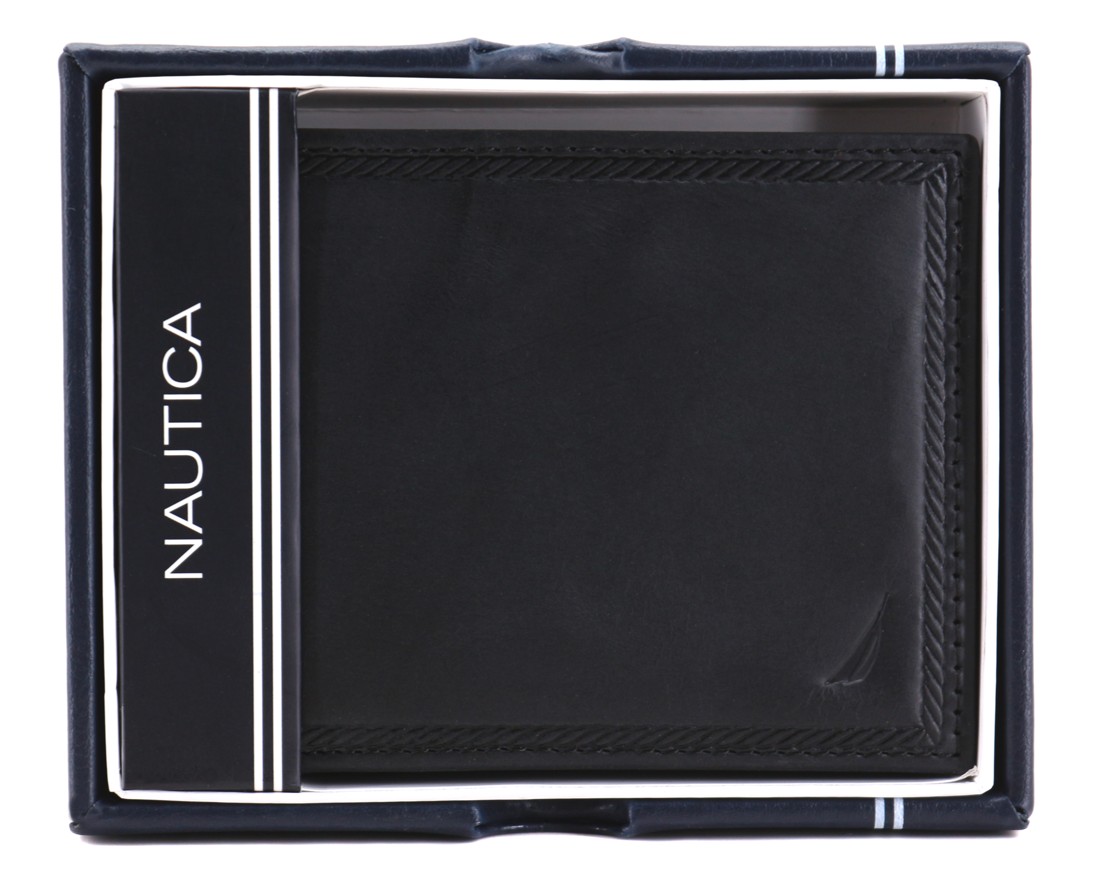 Nautica-Men-039-s-Genuine-Vintage-Leather-Credit-Card-ID-Billfold-Passcase-Wallet thumbnail 9