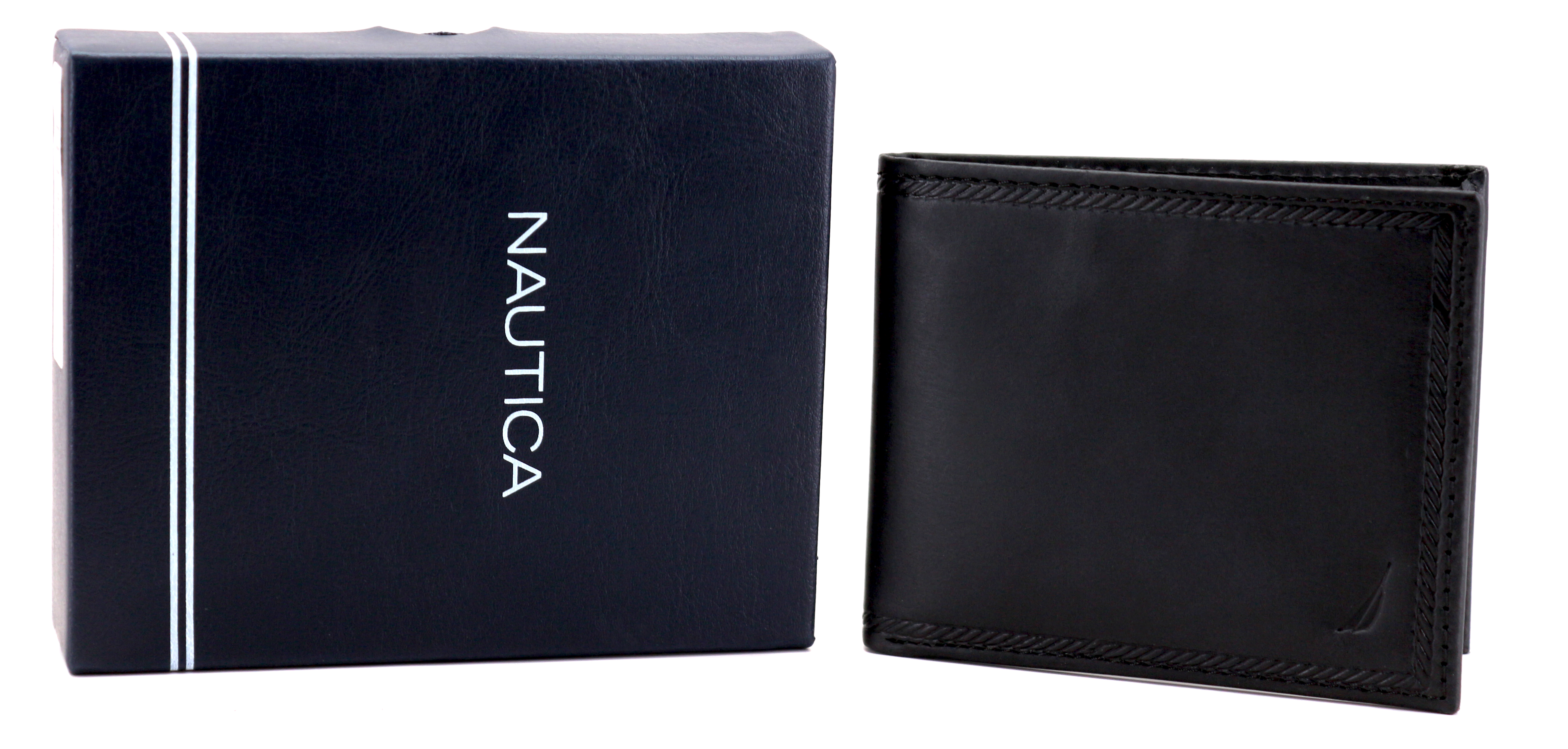Nautica-Men-039-s-Genuine-Vintage-Leather-Credit-Card-ID-Billfold-Passcase-Wallet thumbnail 8