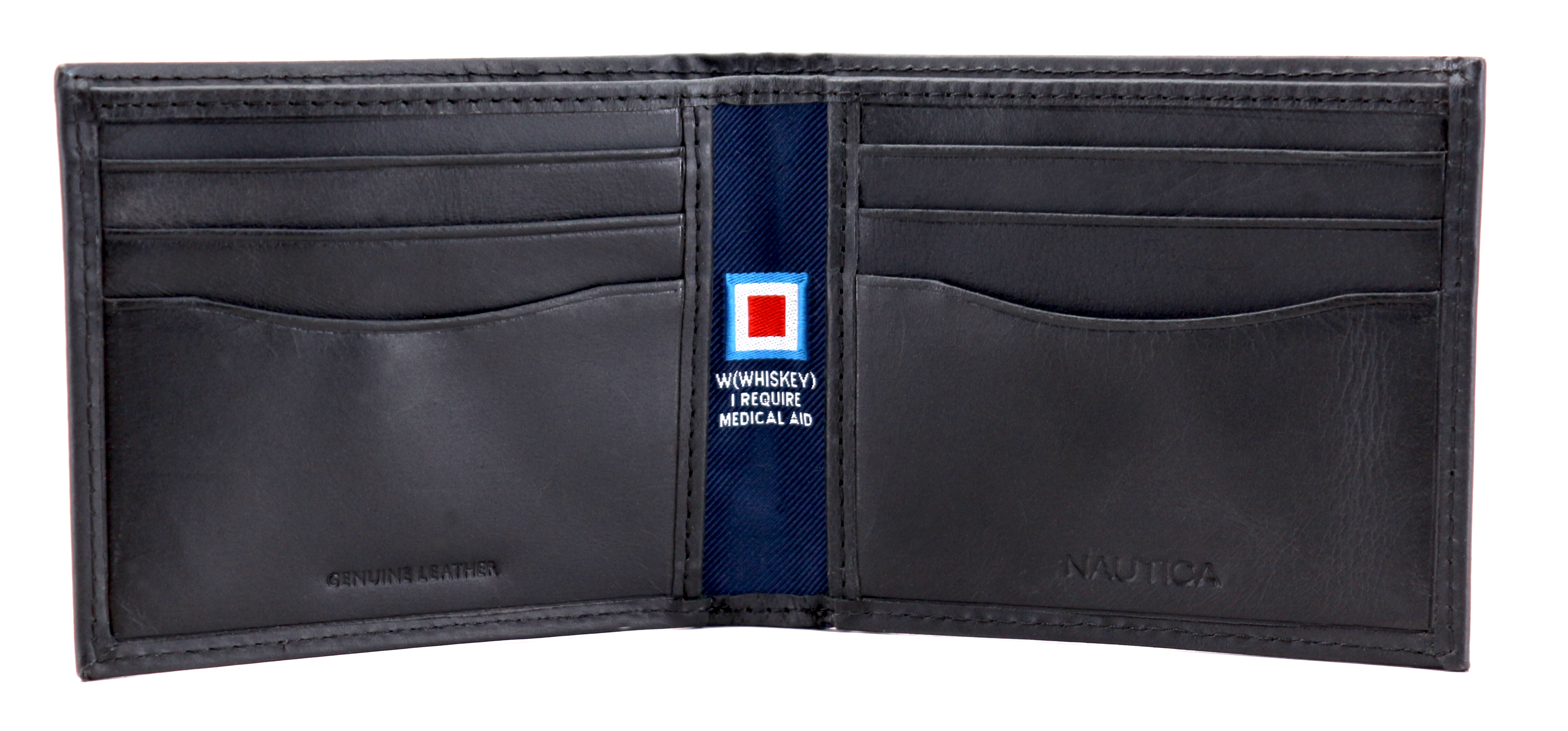 Nautica-Men-039-s-Genuine-Vintage-Leather-Credit-Card-ID-Billfold-Passcase-Wallet thumbnail 6