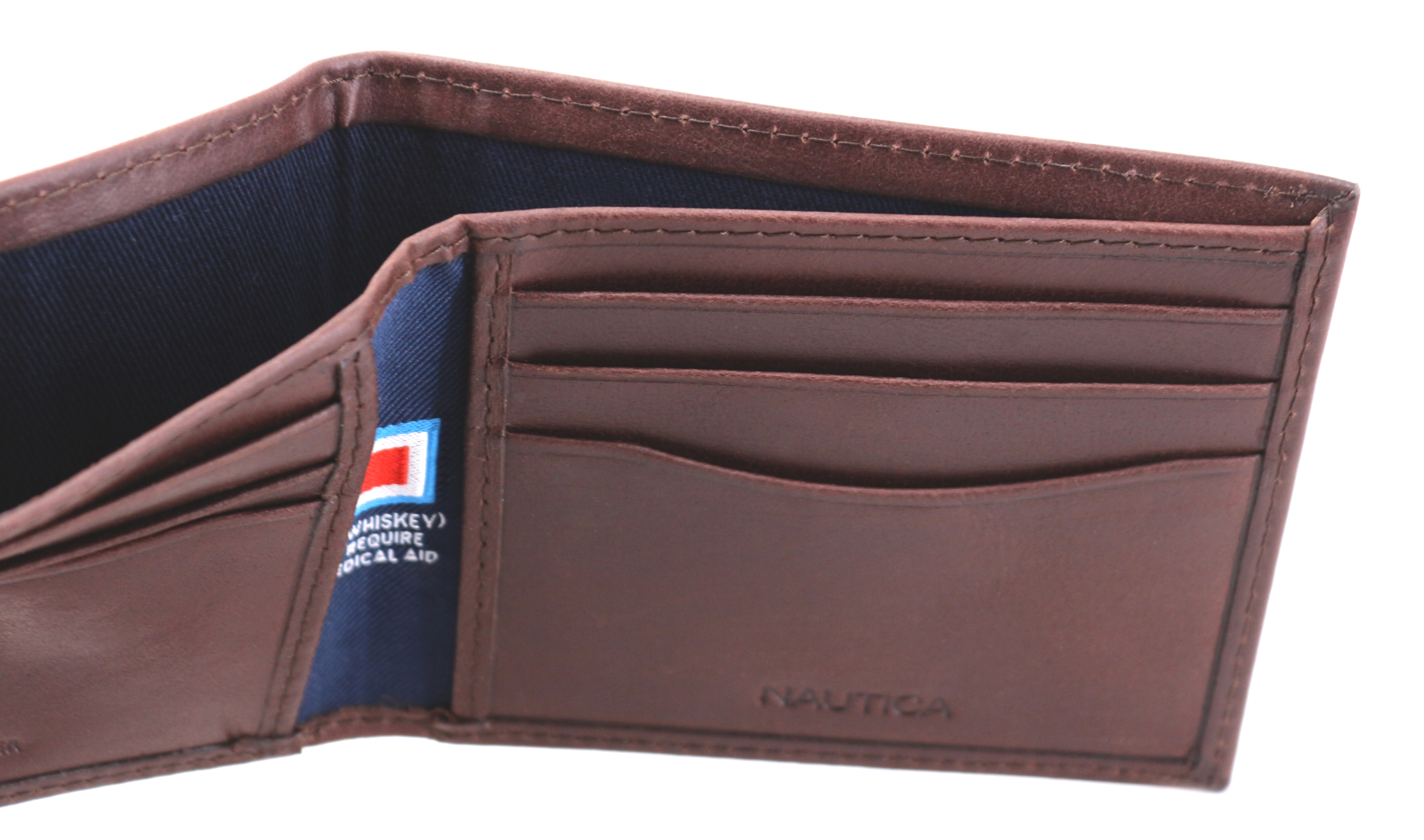 Nautica-Men-039-s-Genuine-Vintage-Leather-Credit-Card-ID-Billfold-Passcase-Wallet thumbnail 15