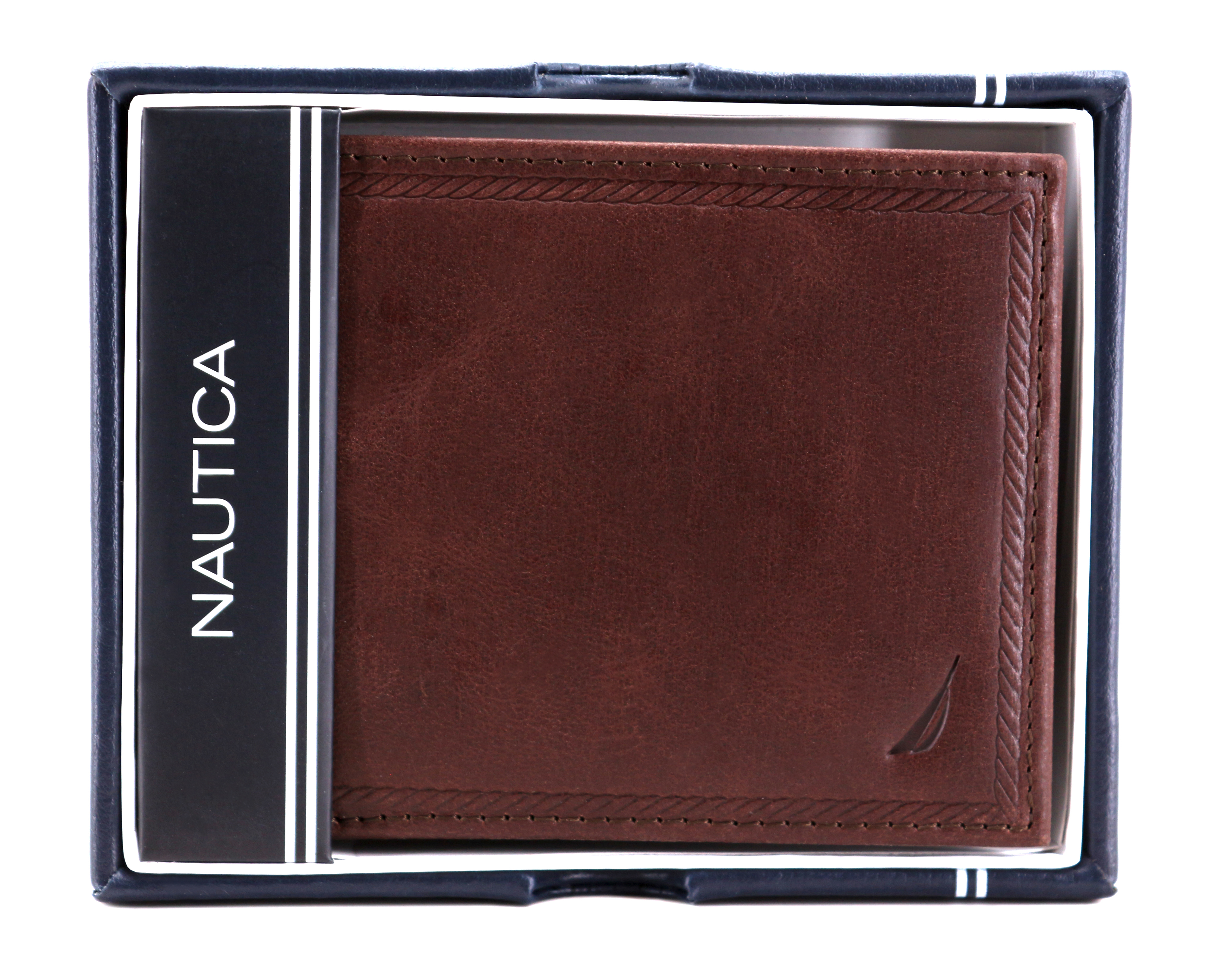 Nautica-Men-039-s-Genuine-Vintage-Leather-Credit-Card-ID-Billfold-Passcase-Wallet thumbnail 17